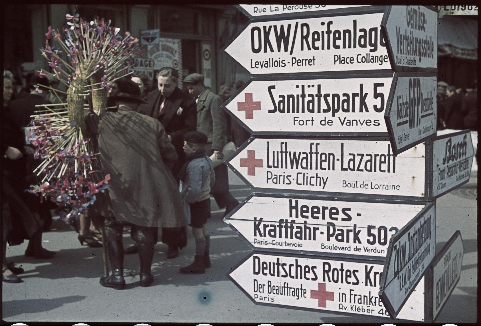 Немецкие указатели на блошином рынке