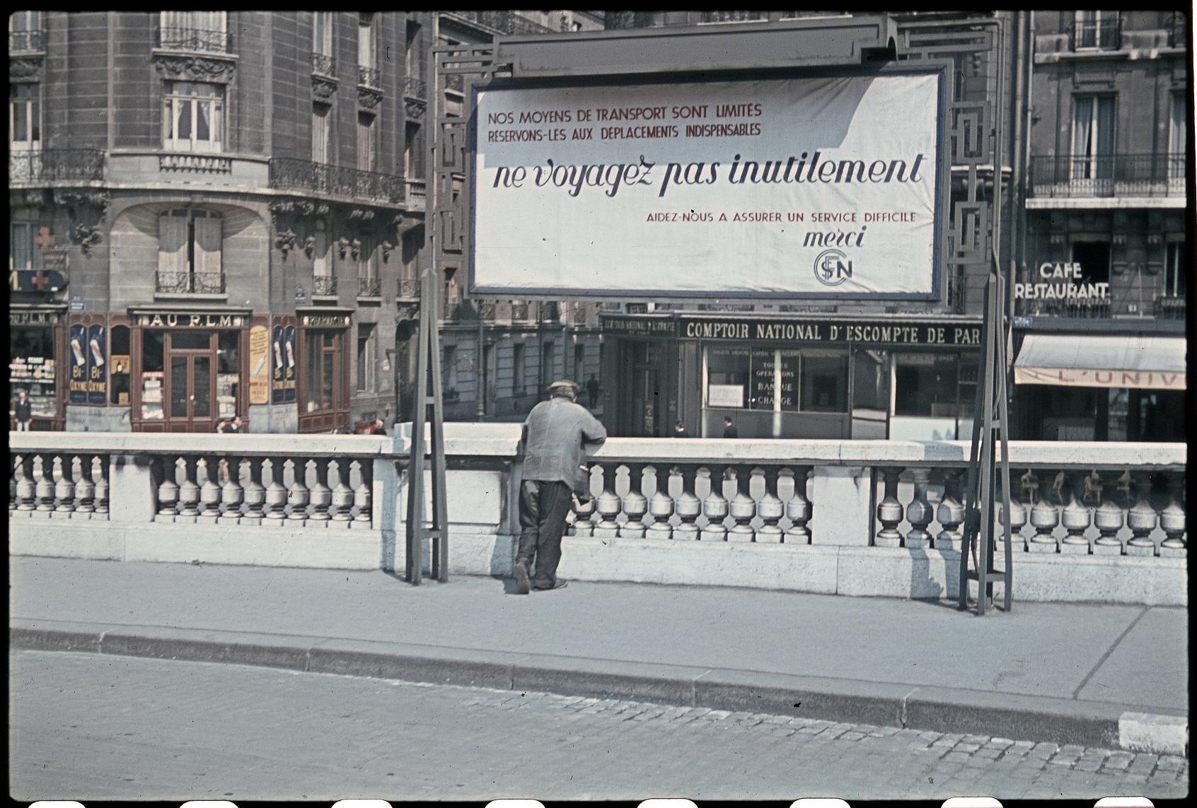 Плакат SNCF: «Не путешествуйте без необходимости»