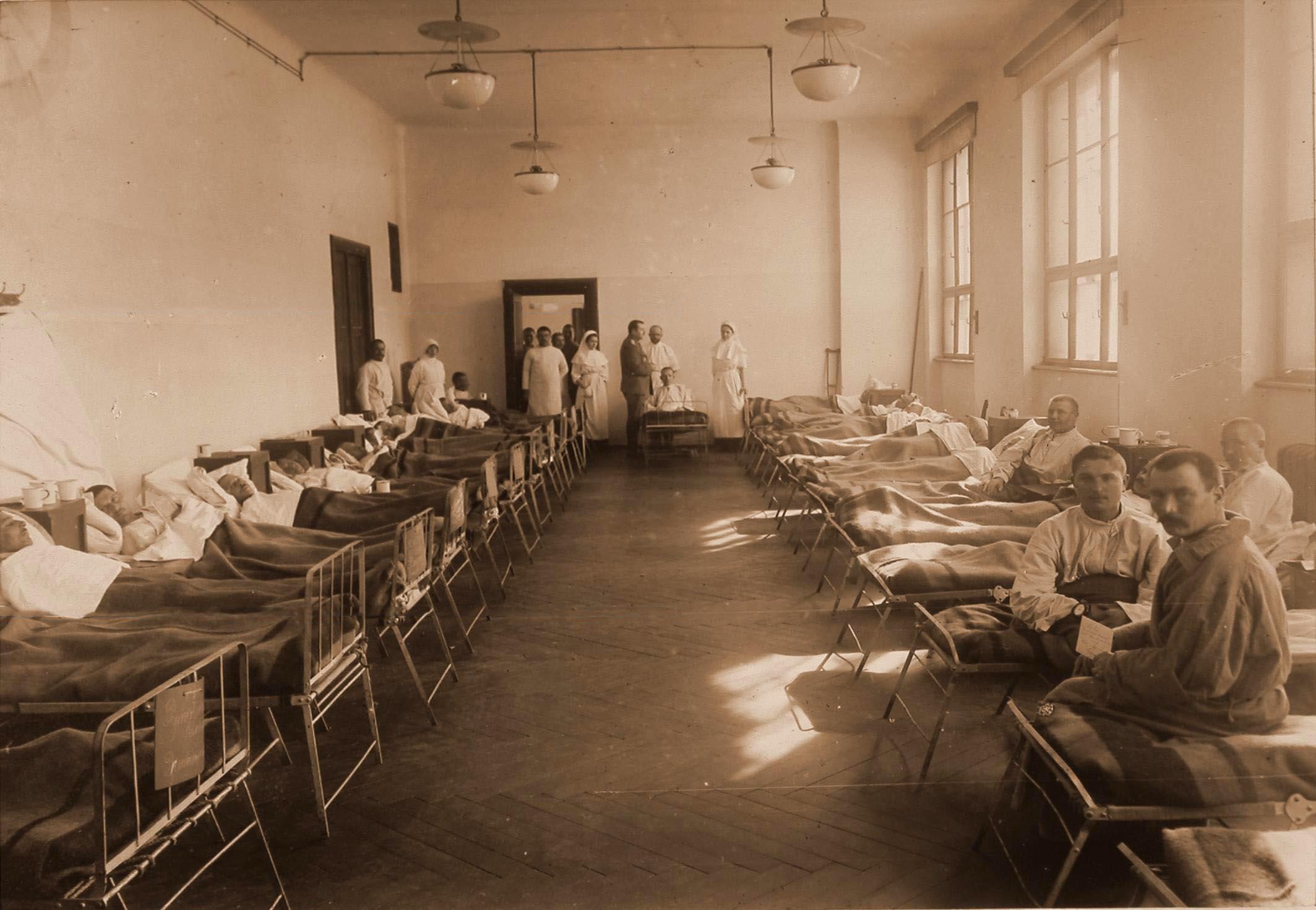 17. Раненые и больные в палате № 15 для нижних чинов