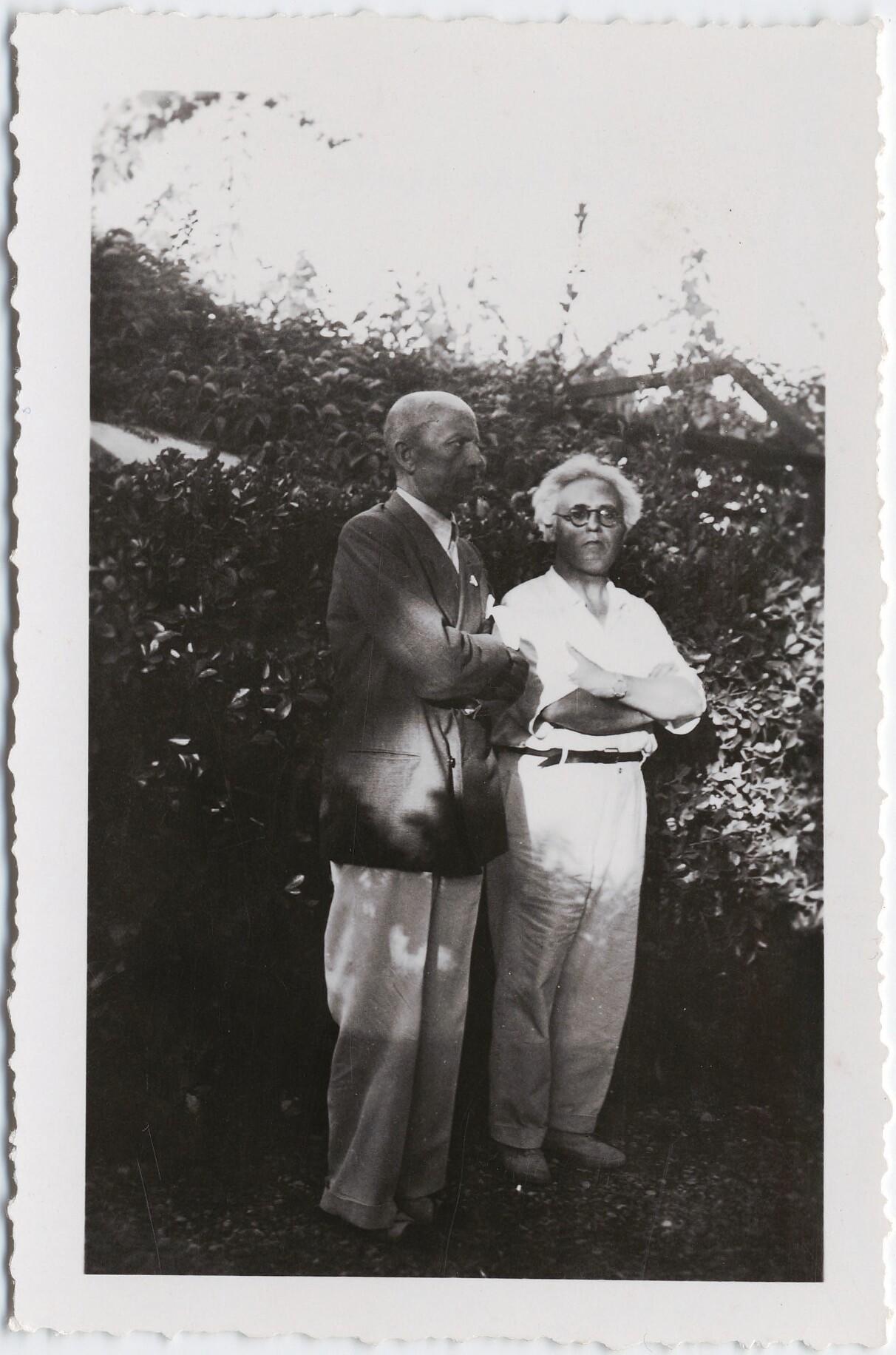 1930-е. Филиппо Томмазо Маринетти и композитор футурист Альдо Джунтини