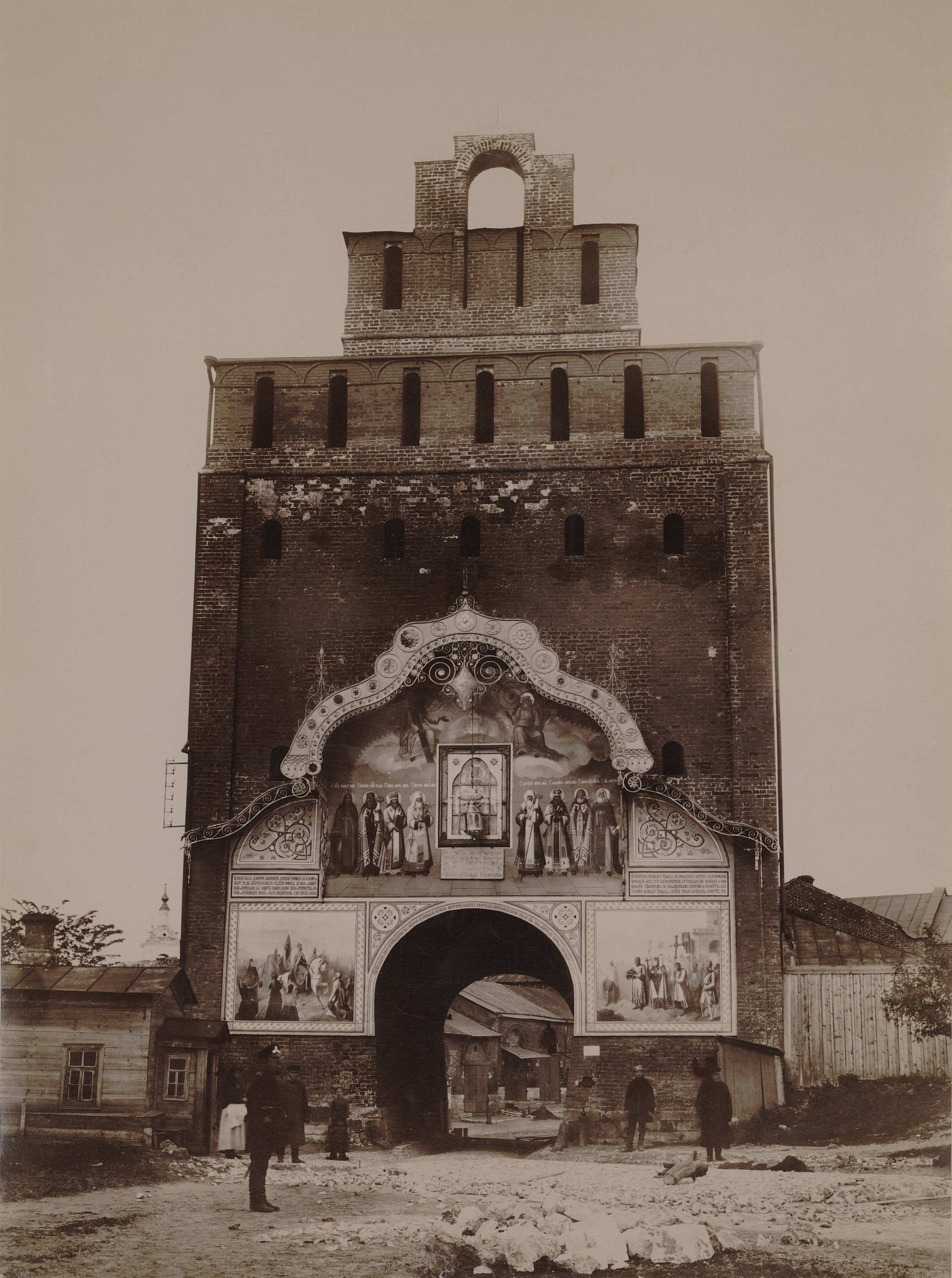 Пятницкие ворота Коломенского кремля (вид со стороны кремля) 1894