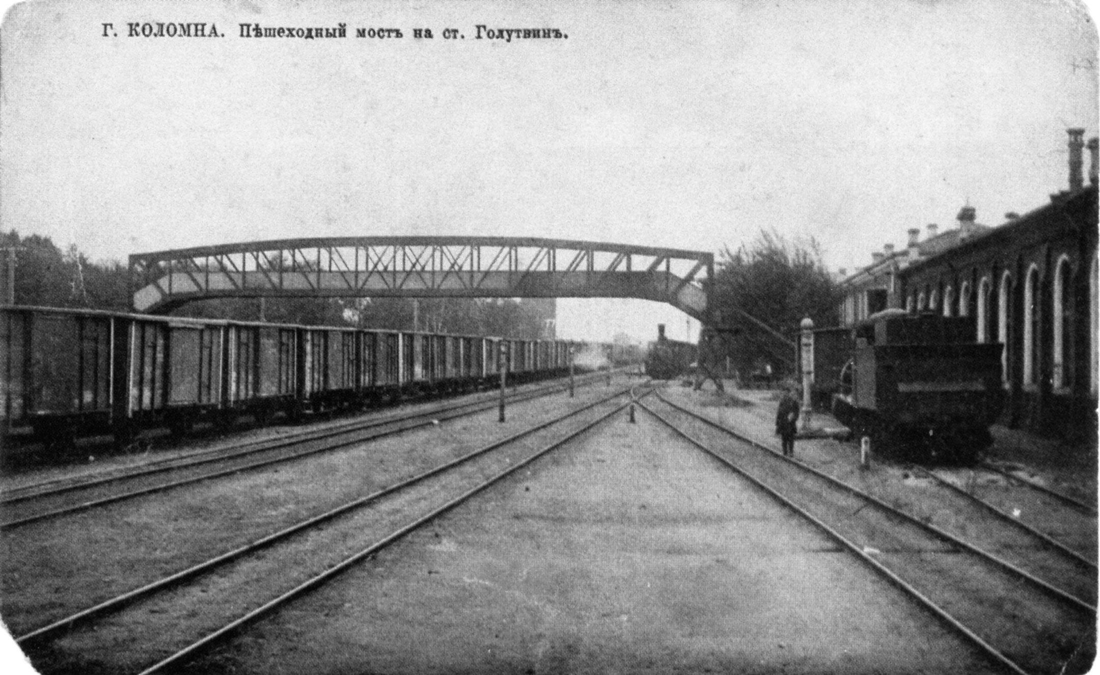 Пешеходный (Бобровский) мост на станции Голутвин