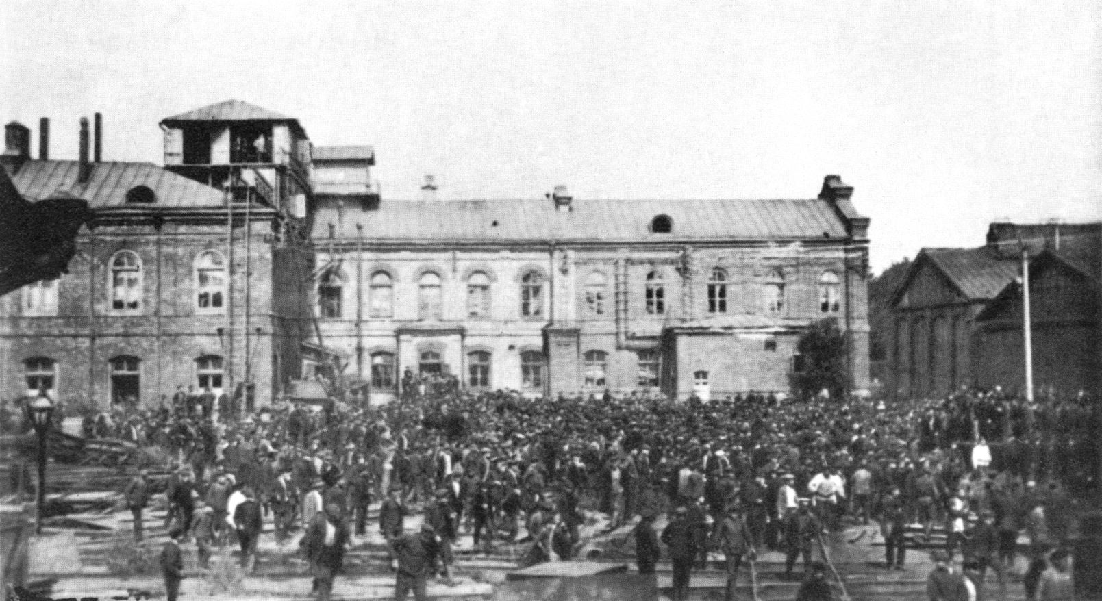 Забастовка на Коломенском заводе. 1914
