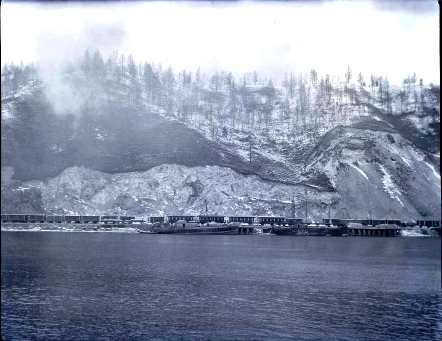 16. Озеро Байкал. Порт Байкал. Конечная точка линии железной дороги