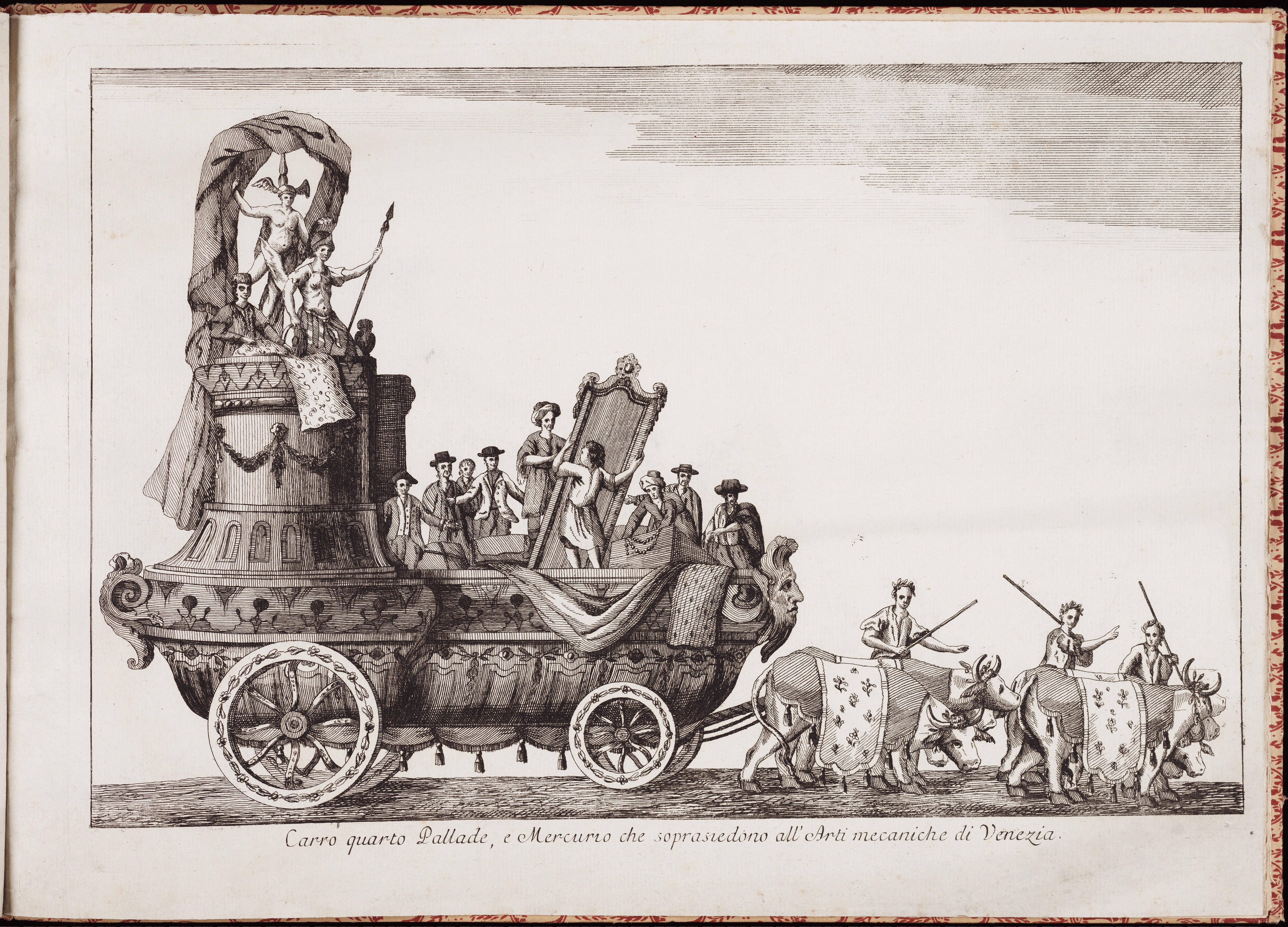 Колесница четвертая — Паллады и Меркурия, покровителей венецианского прикладного искусства