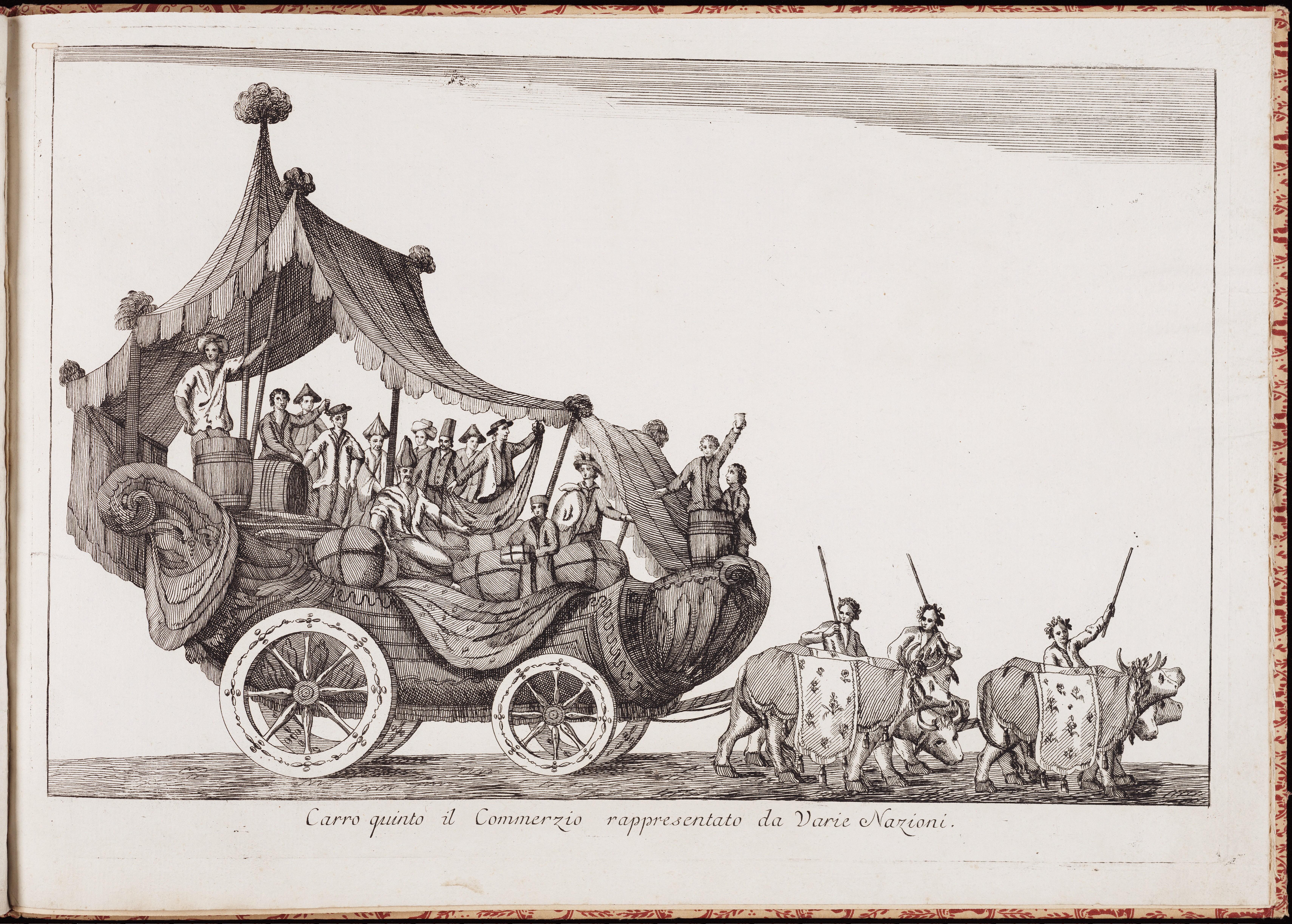 Колесница пятая — торговля, представленная различными народами