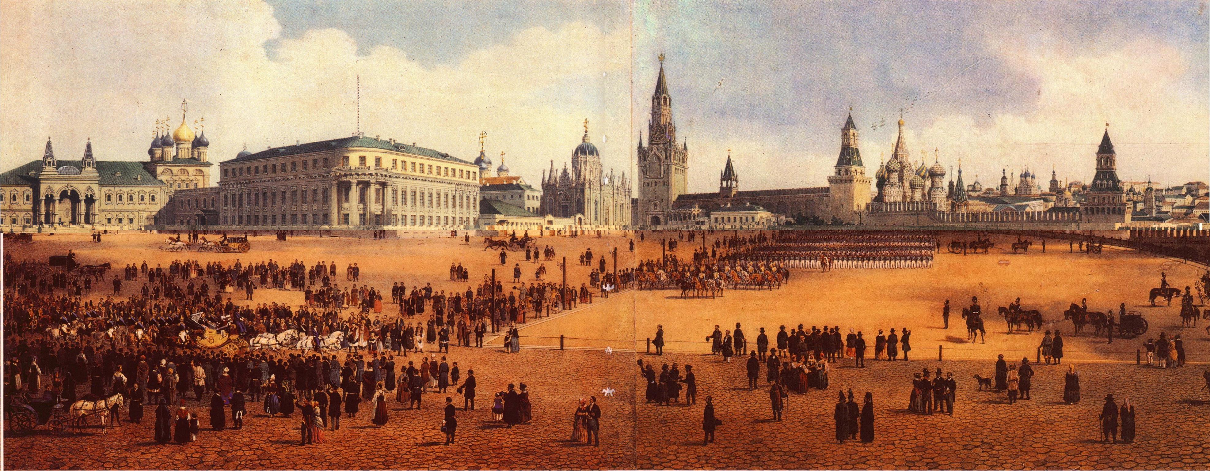 1850-е. Панорама Кремля и Замоскворечья от Тайницкой башни