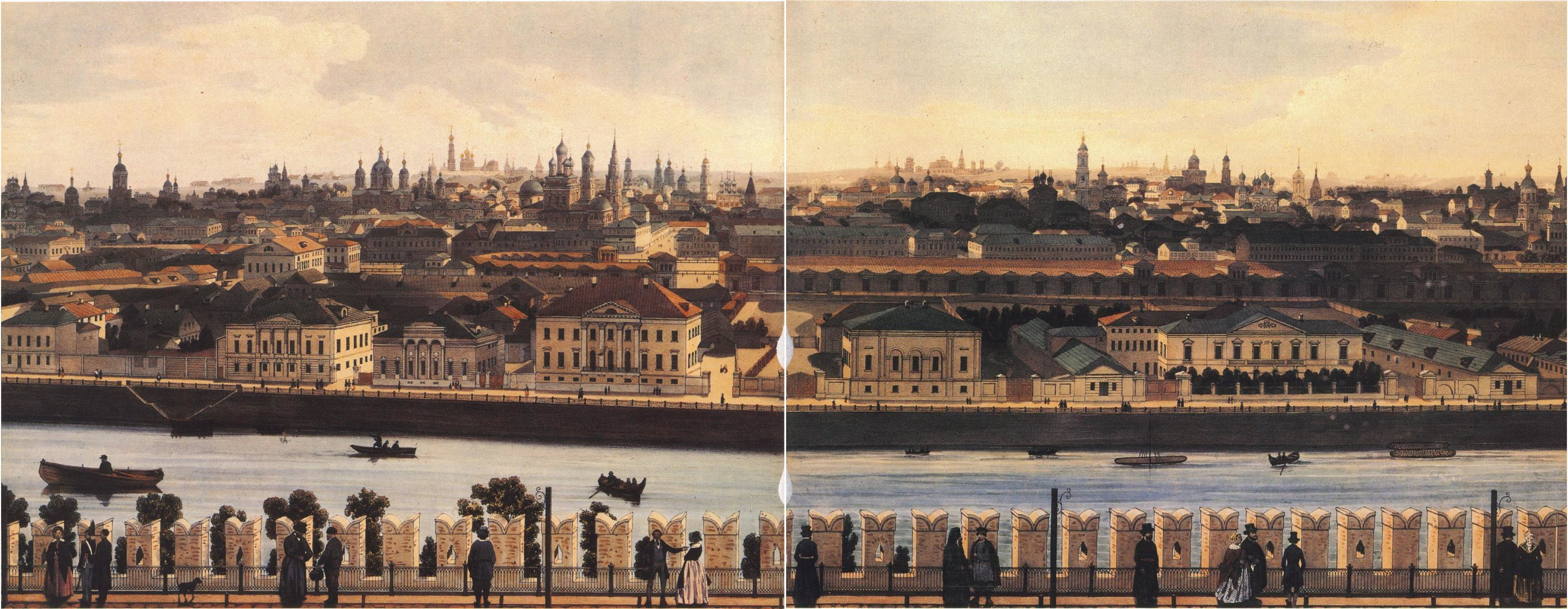 1850-е. Панорама Кремля и Замоскворечья от Тайницкой башни3