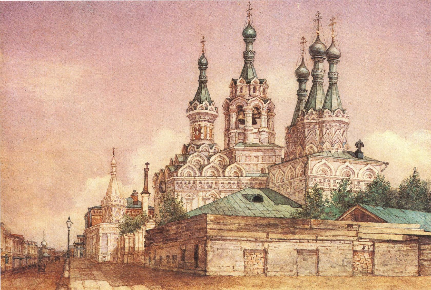 1860-1870-е. Вид церкви Рождества Богородицы в Путинках