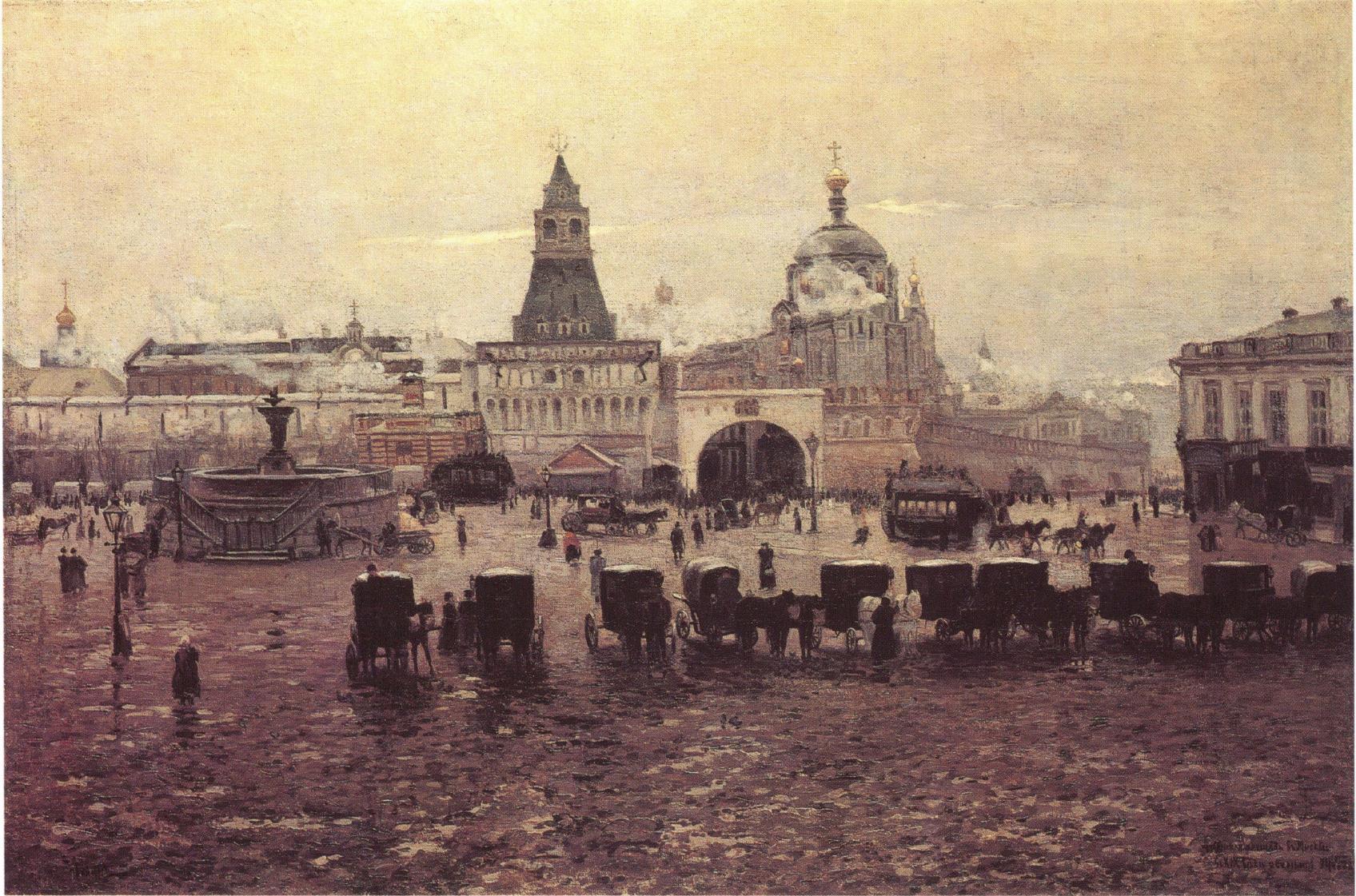 1894. Лубянская площадь в Москве осенью