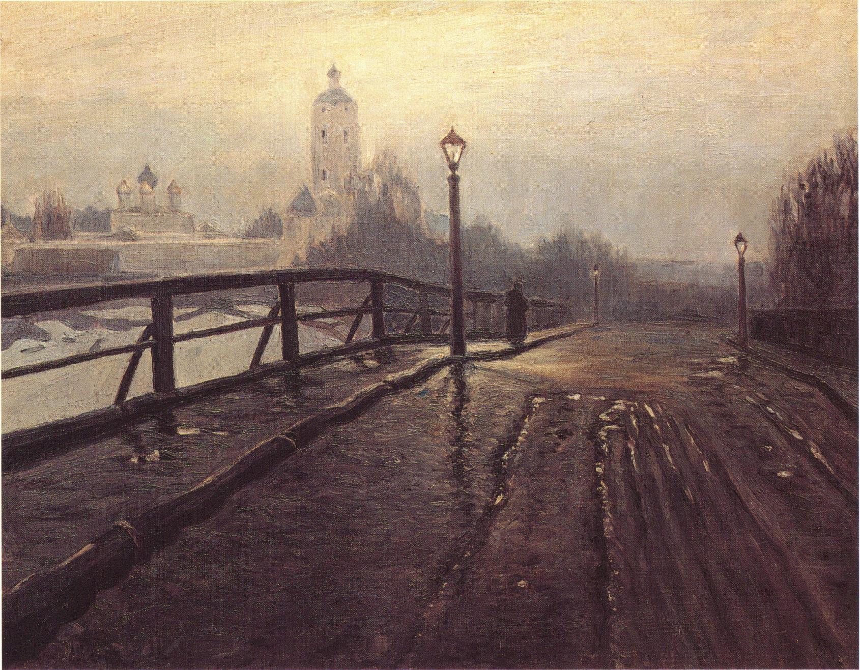 1900-е. Новоспасский мост. В марте