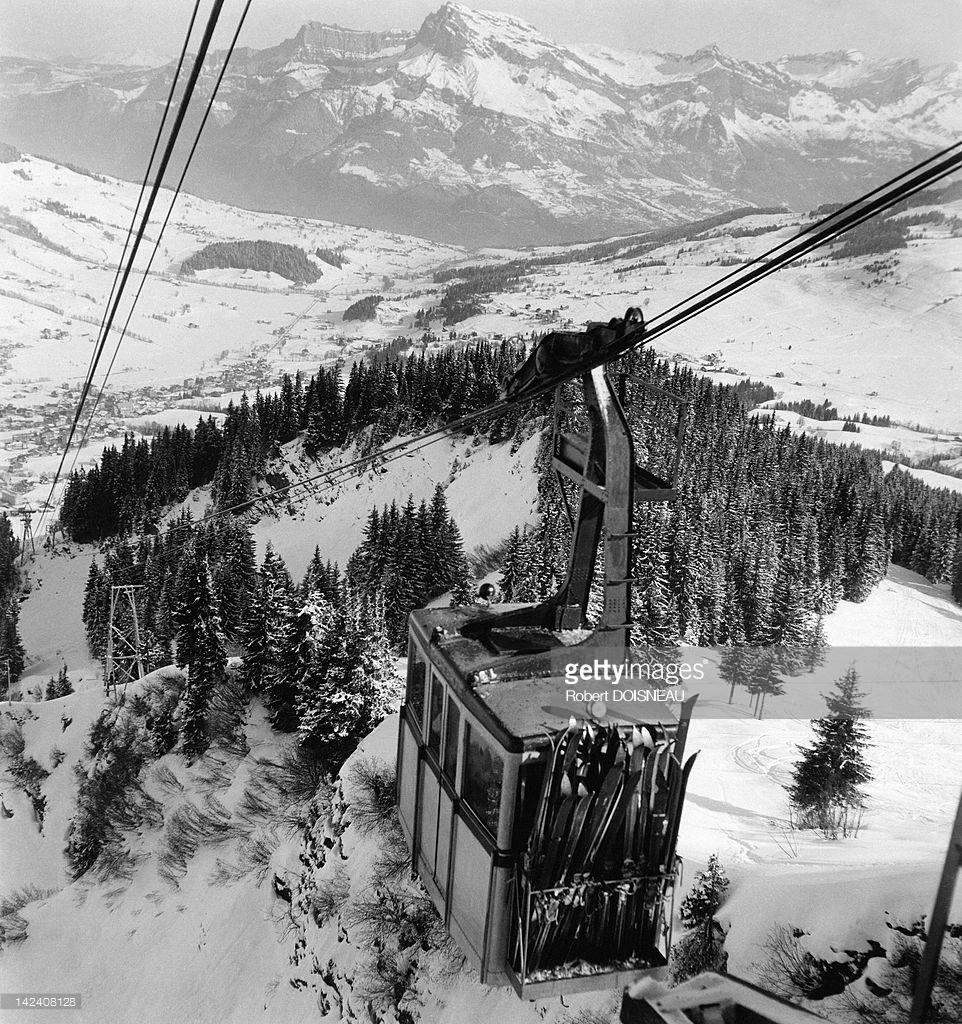 1936. Канатная дорога в Межеве