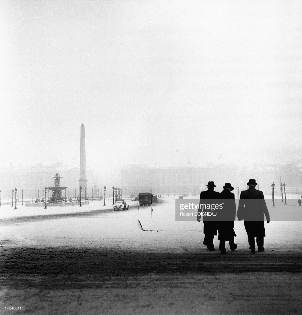 1940. Площадь Согласия под снегом