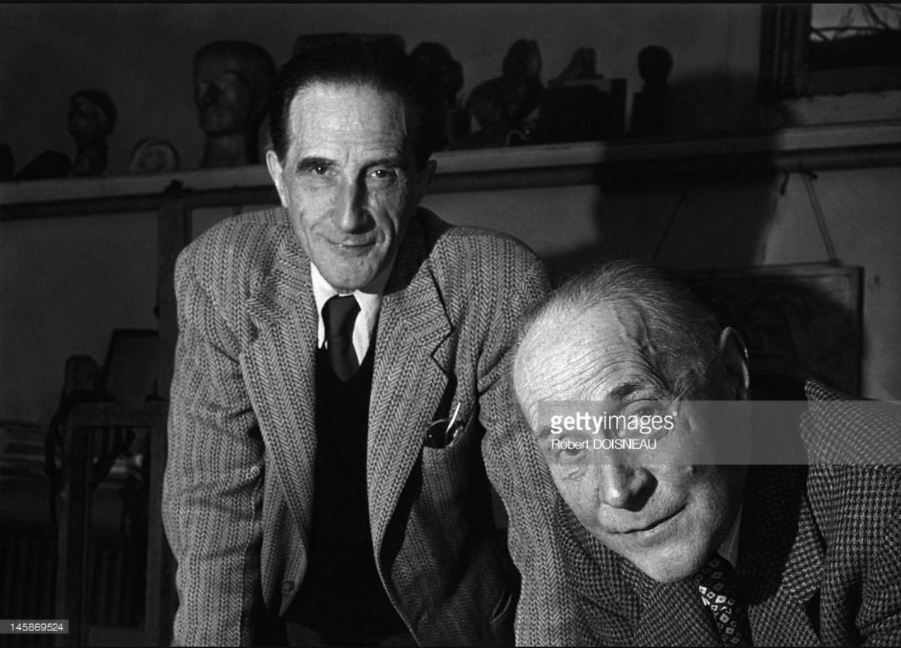 1950. Художники Жак Вийон и Марсель Дюшан в Париже