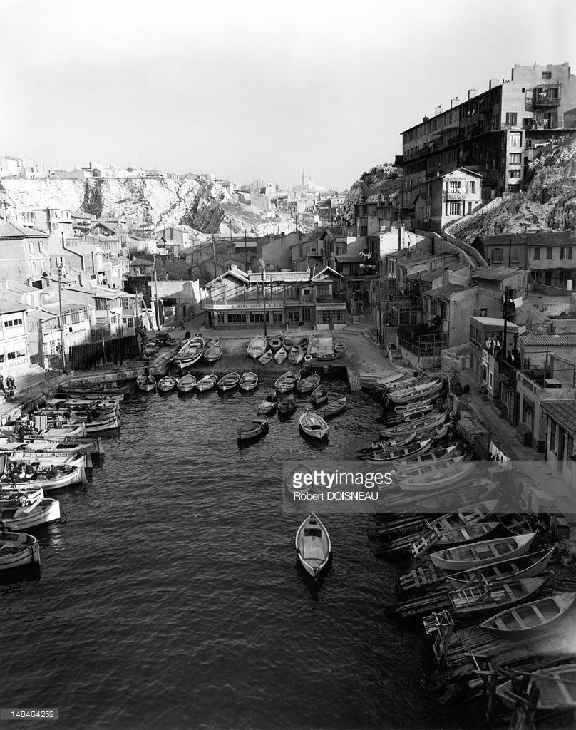 1951. Вид на небольшую гавань. Марсель