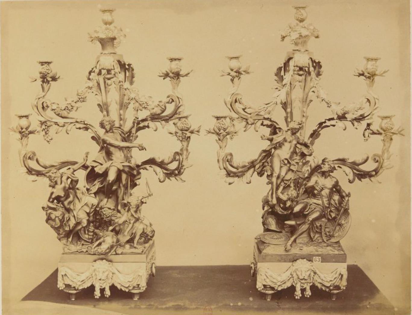 Бронзовые канделябры (1750-60)