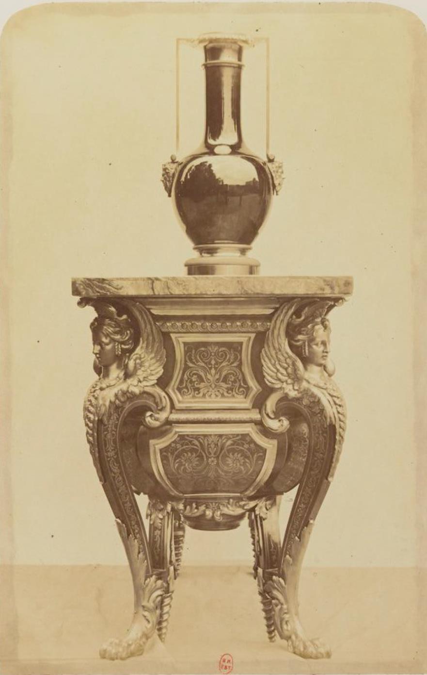 Комод. Вид сзади. Мебель стиля «буль» (ок. 1700)