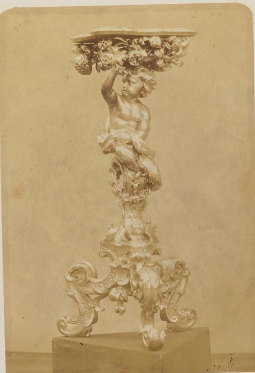 Резная позолоченная жардиньерка (венецианская работа 1690-1700)