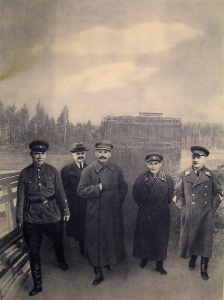 1937. И.В.Сталин на канале Москва-Волга