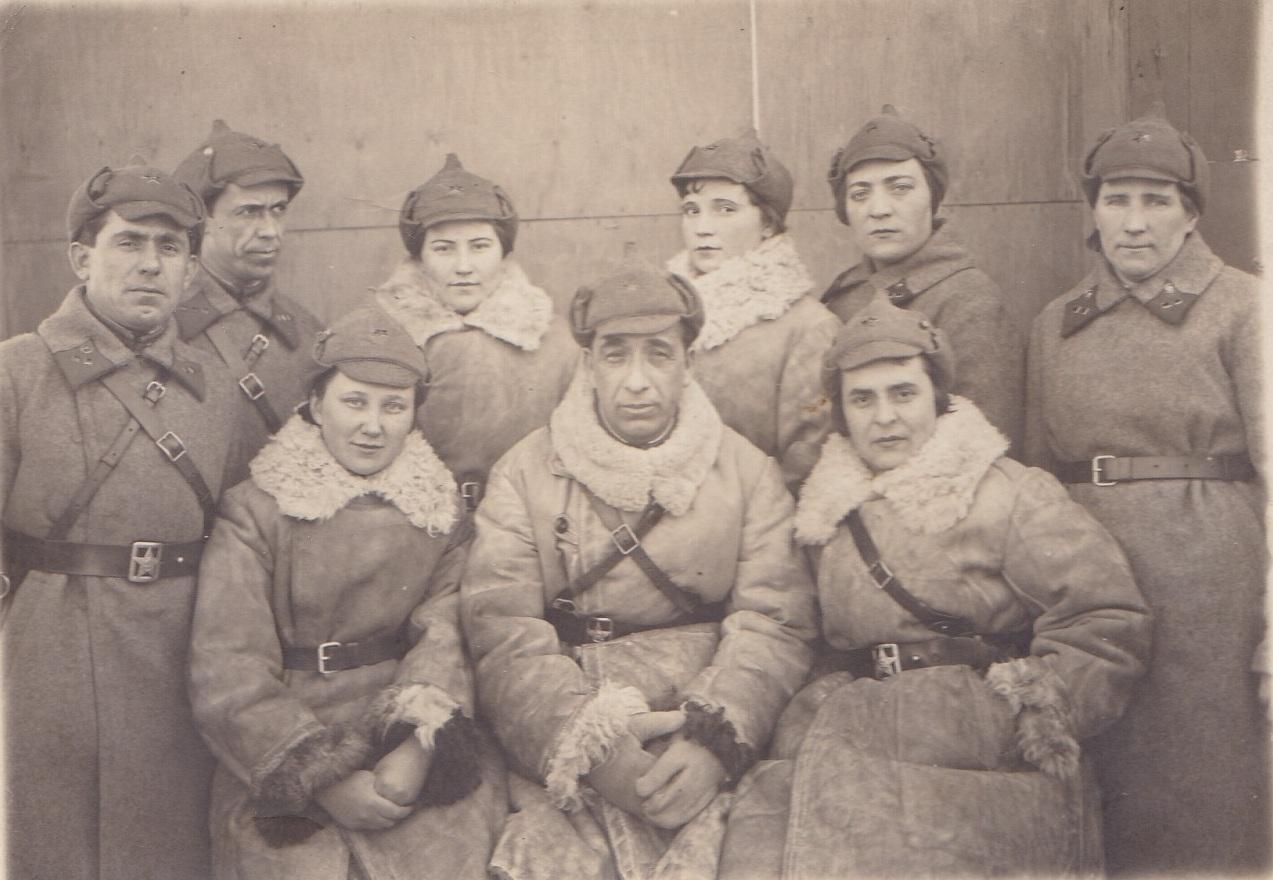 1940.  Нач.состав ВСП-№ 1. Петрозаводск. 17.3.