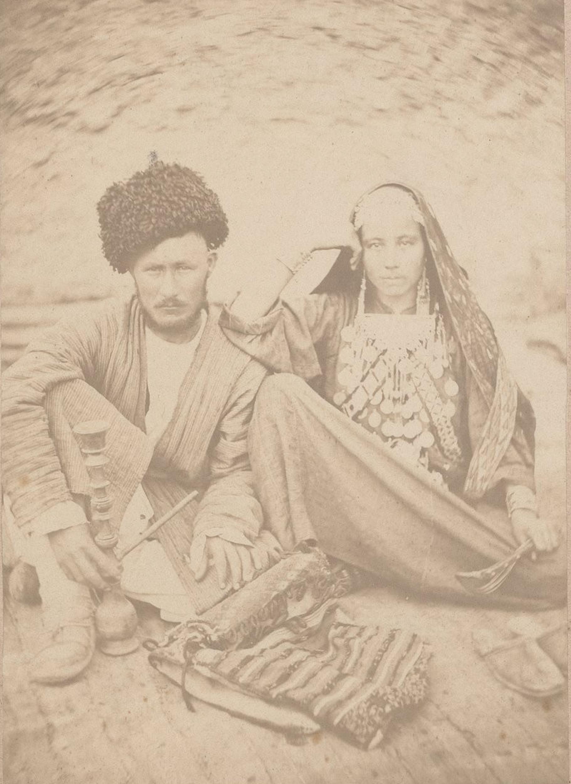 Туркмен-текинец с женой