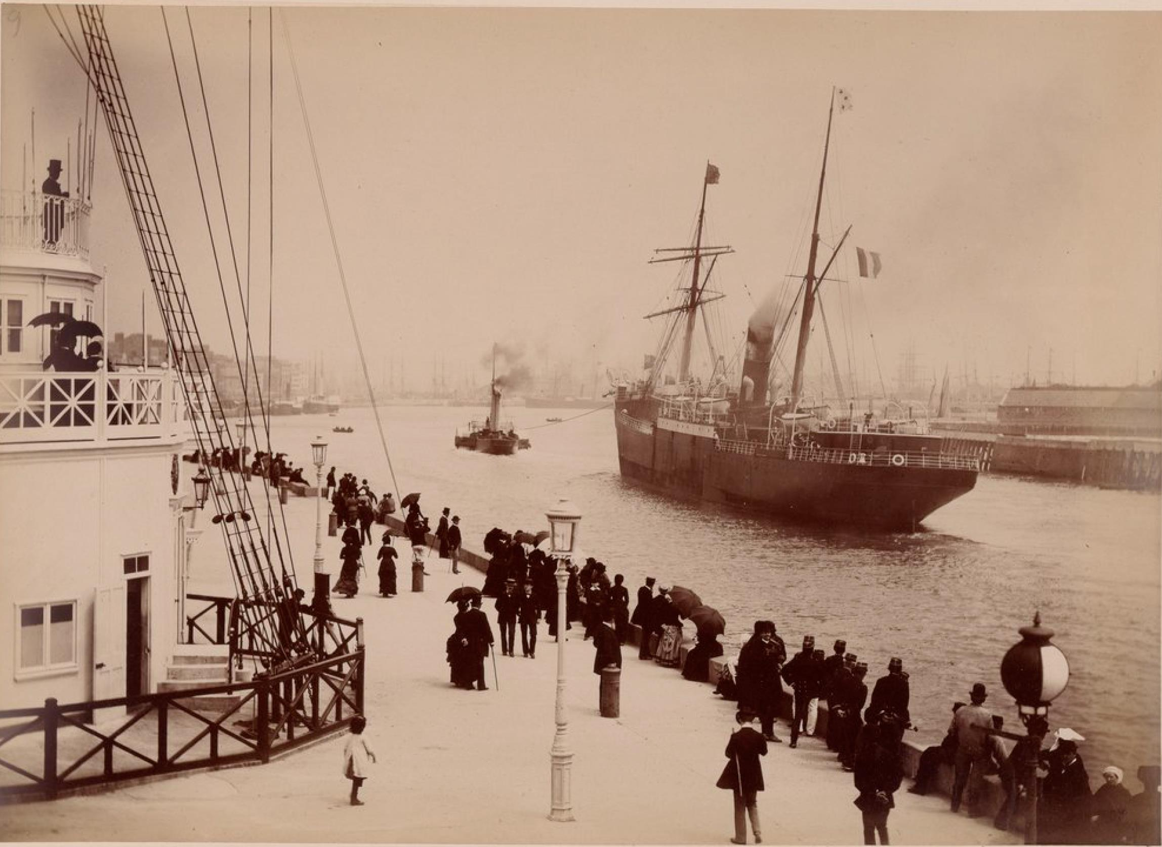 Компания «Chargeurs Reunis». Гавр. Пассажирское судно «Город Пара» (в 1886 году он столкнулся со скалой у Мадейры и мгновенно затонул)