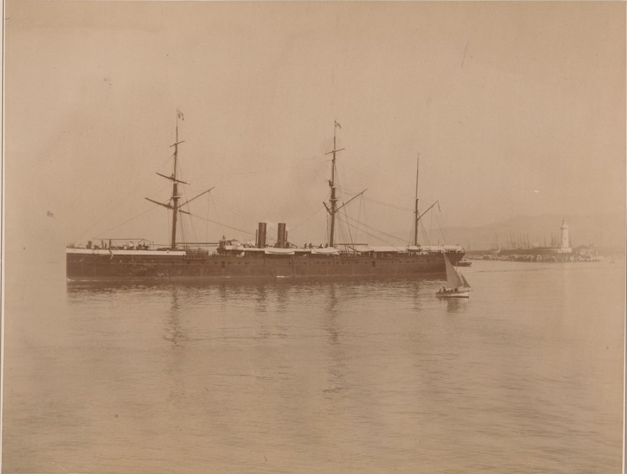 Компания «Nationale des Messageries Maritimes». Почтовый пароход «Салази»  (линия Марсель - Китай, Япония)