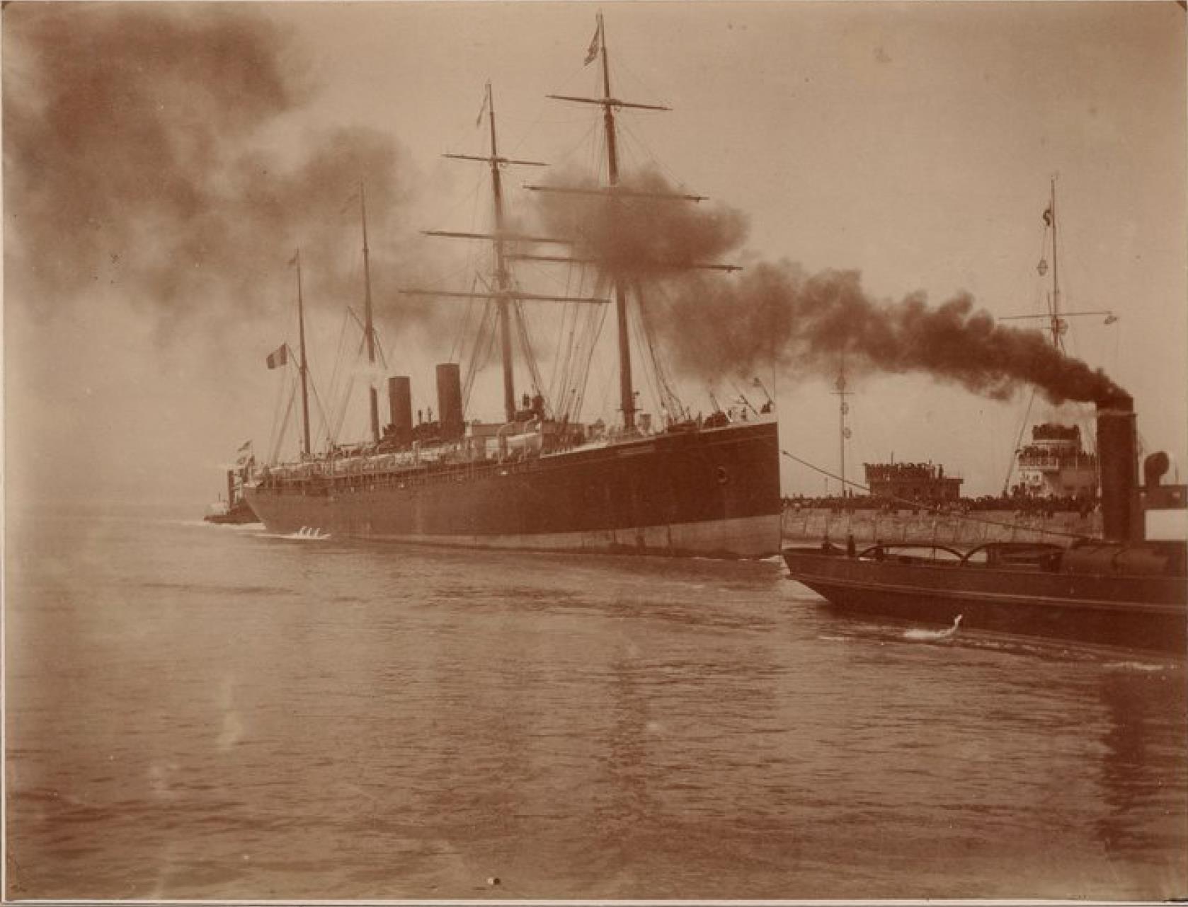 Трансатлантическая компания. Почтовый пароход «Бретань» (линия Гавр - Нью-Йорк)