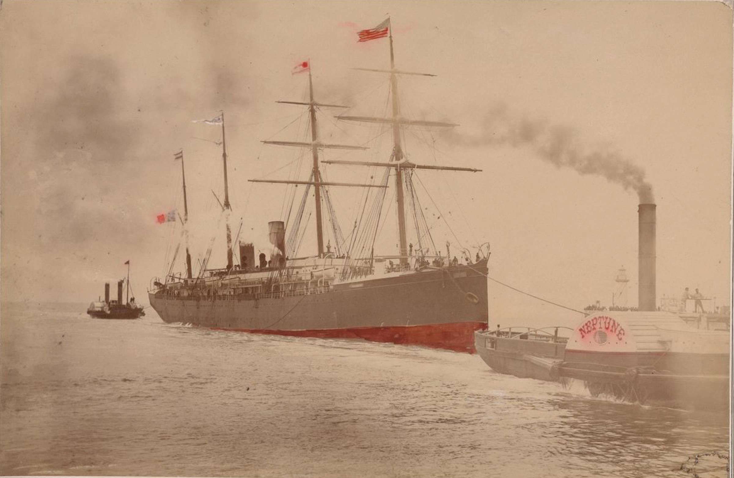 Трансатлантическая компания. Почтовый пароход «Нормандия» (линия Гавр - Нью-Йорк)