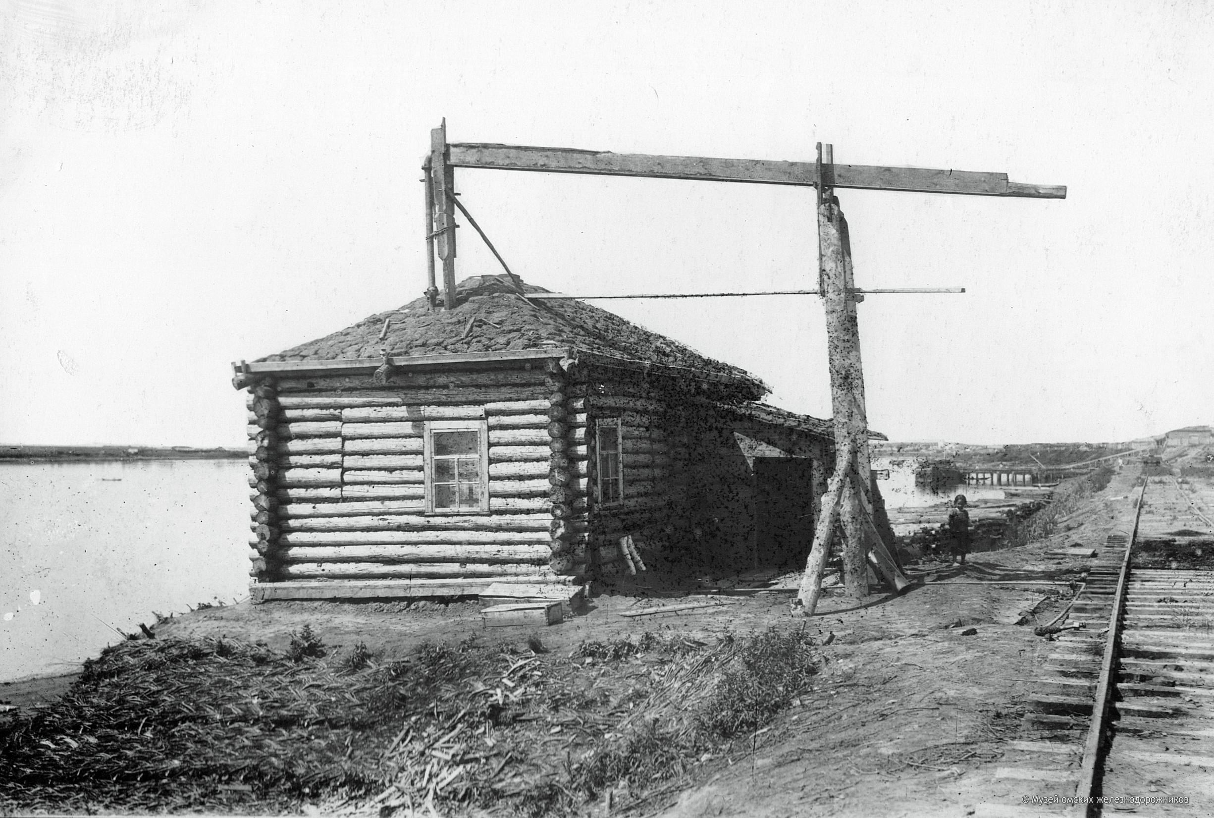 1895. Временная водокачка для заправки водой паровозов