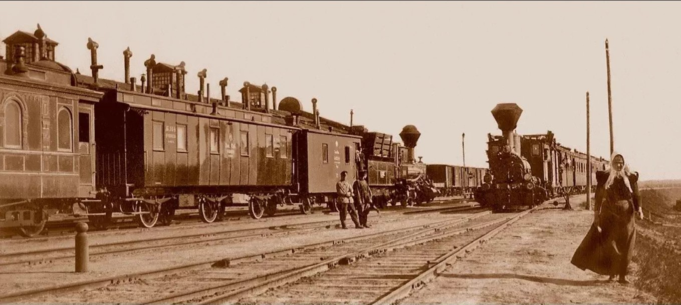 1896. Прибытие поезда на станцию Омск