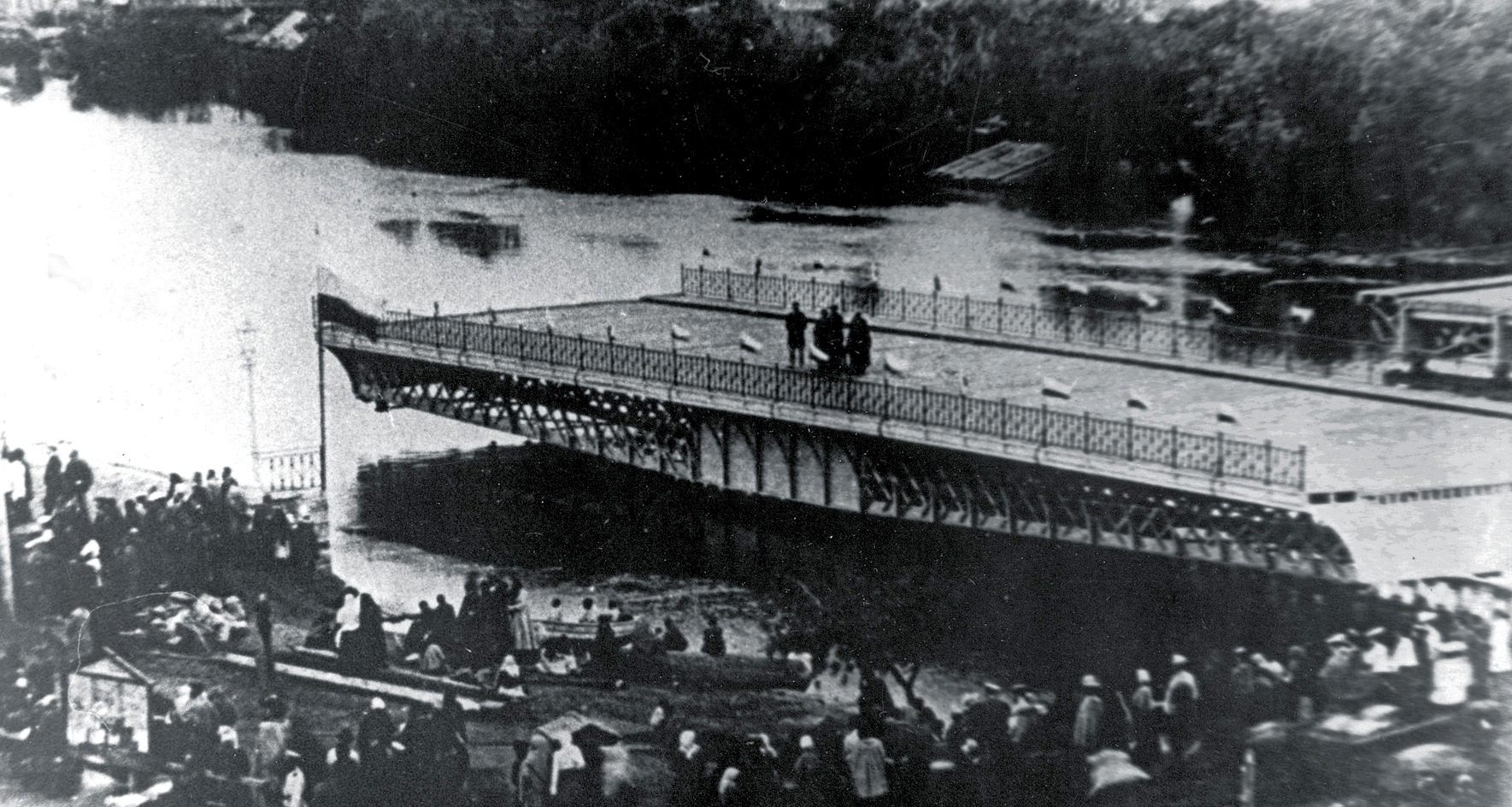 1903. Испытания моста