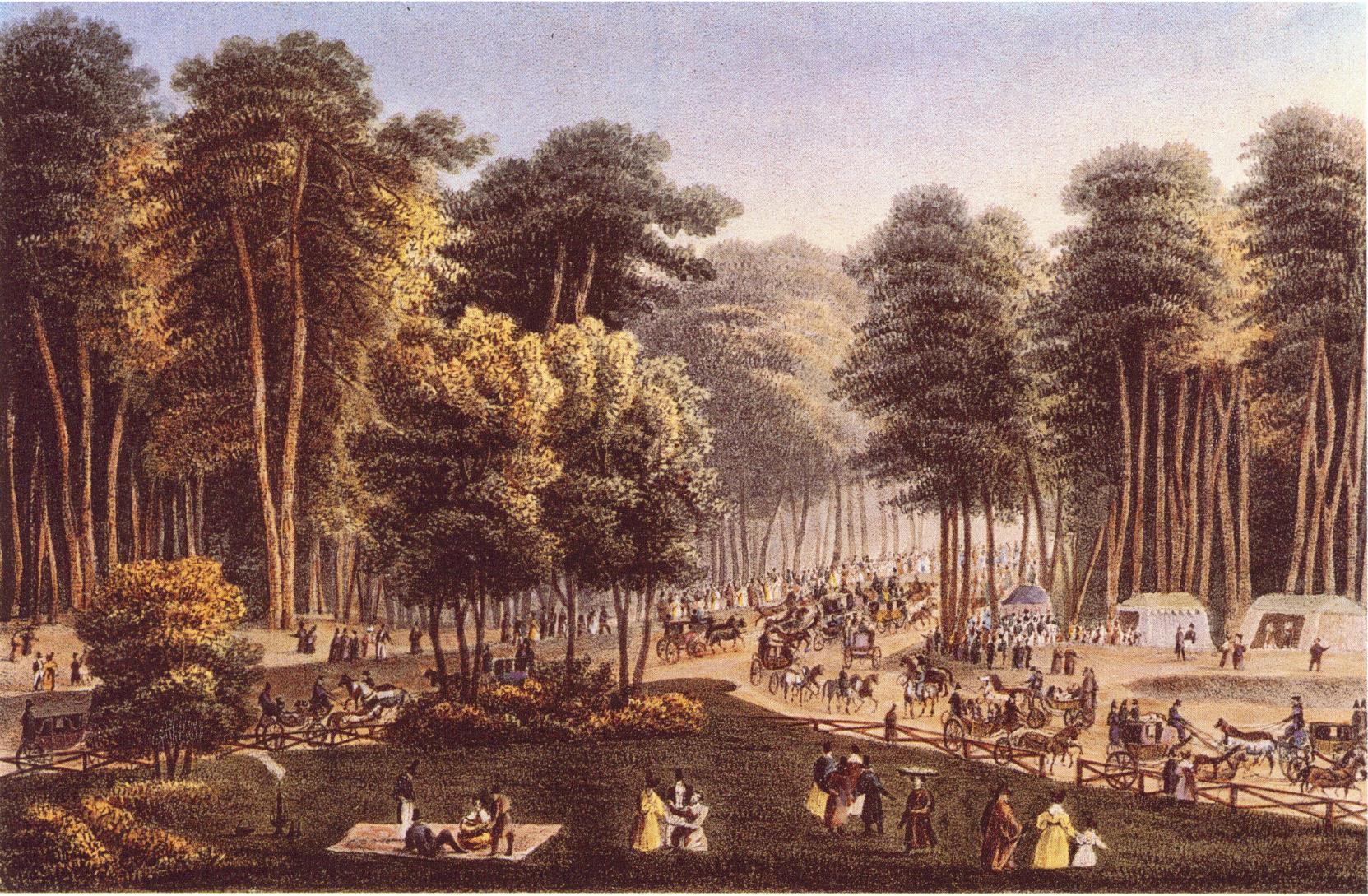 1830-е. Гуляния 1 мая в Сокольниках