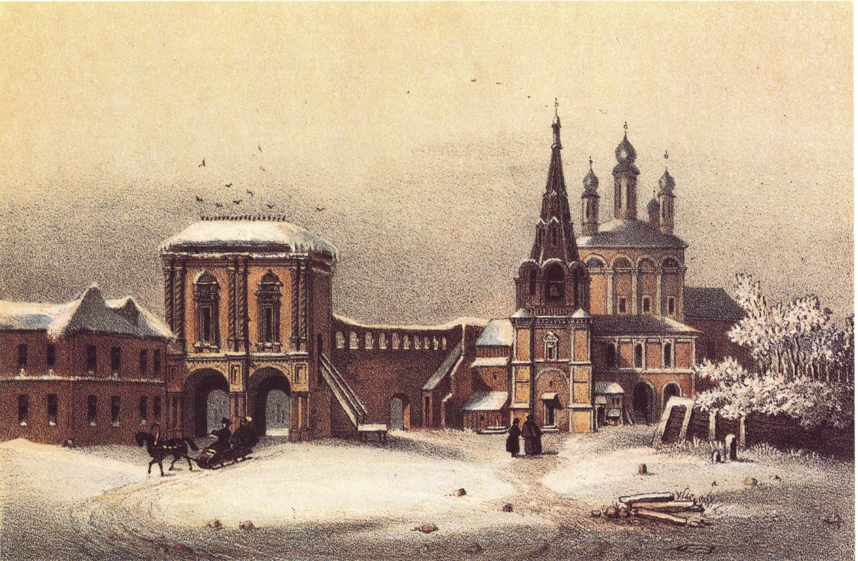 1840-е. Крутицкий монастырь