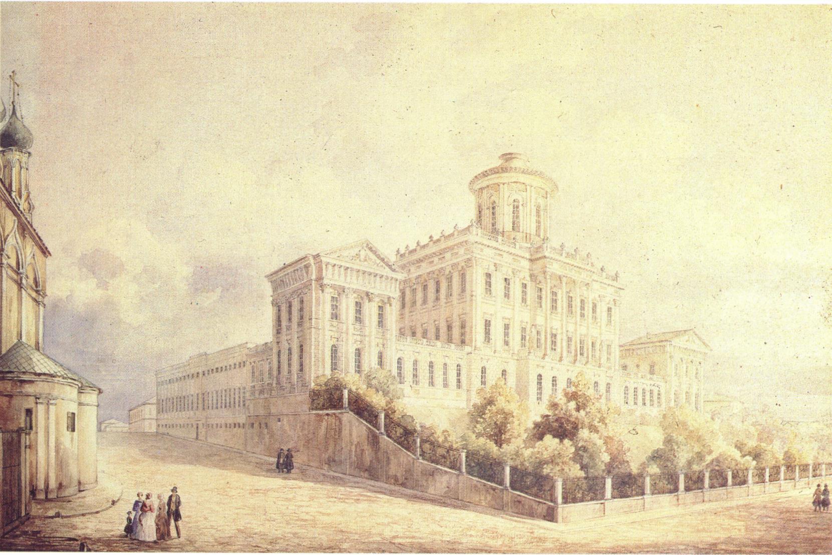 1840-е. Моховая. Дом Пашкова