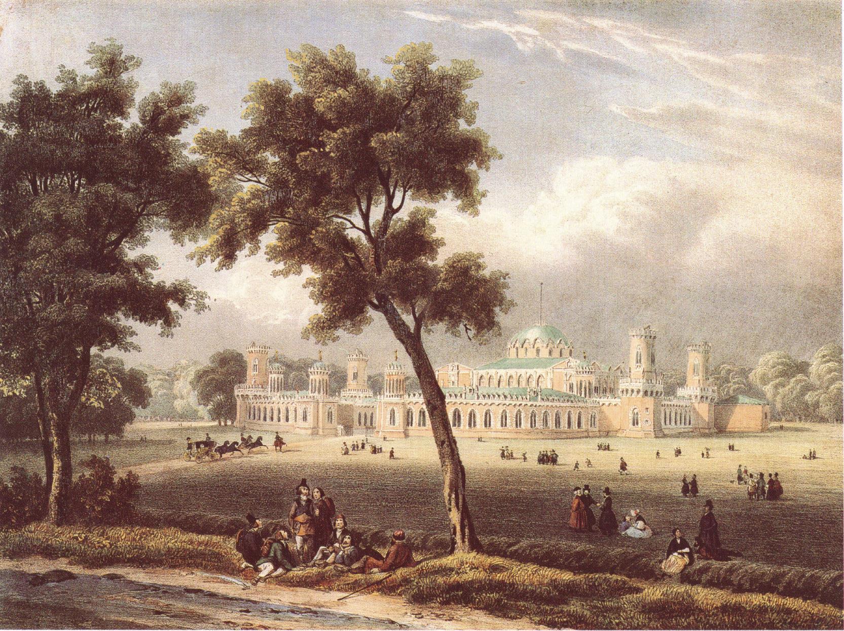1846. Вид Петровского дворца