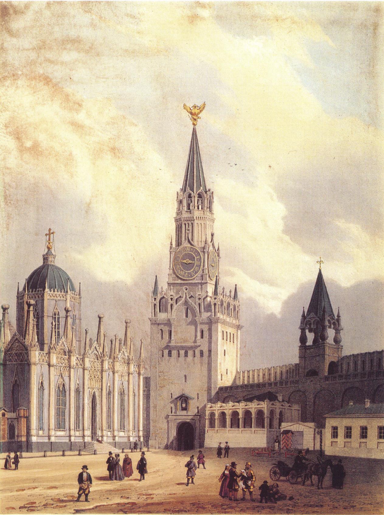 1846. Вид Спасской башни