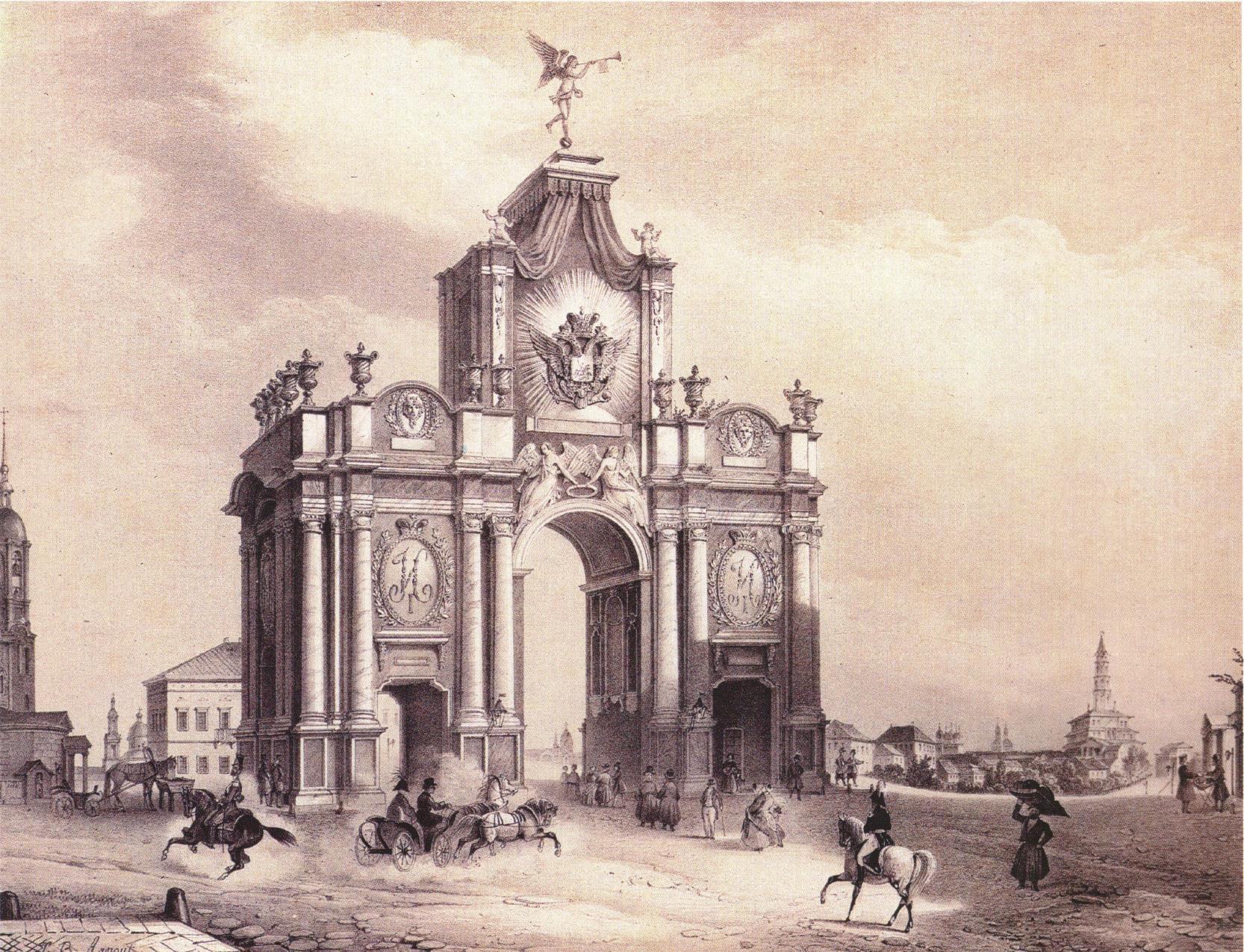1850-е. Вид Красных ворот