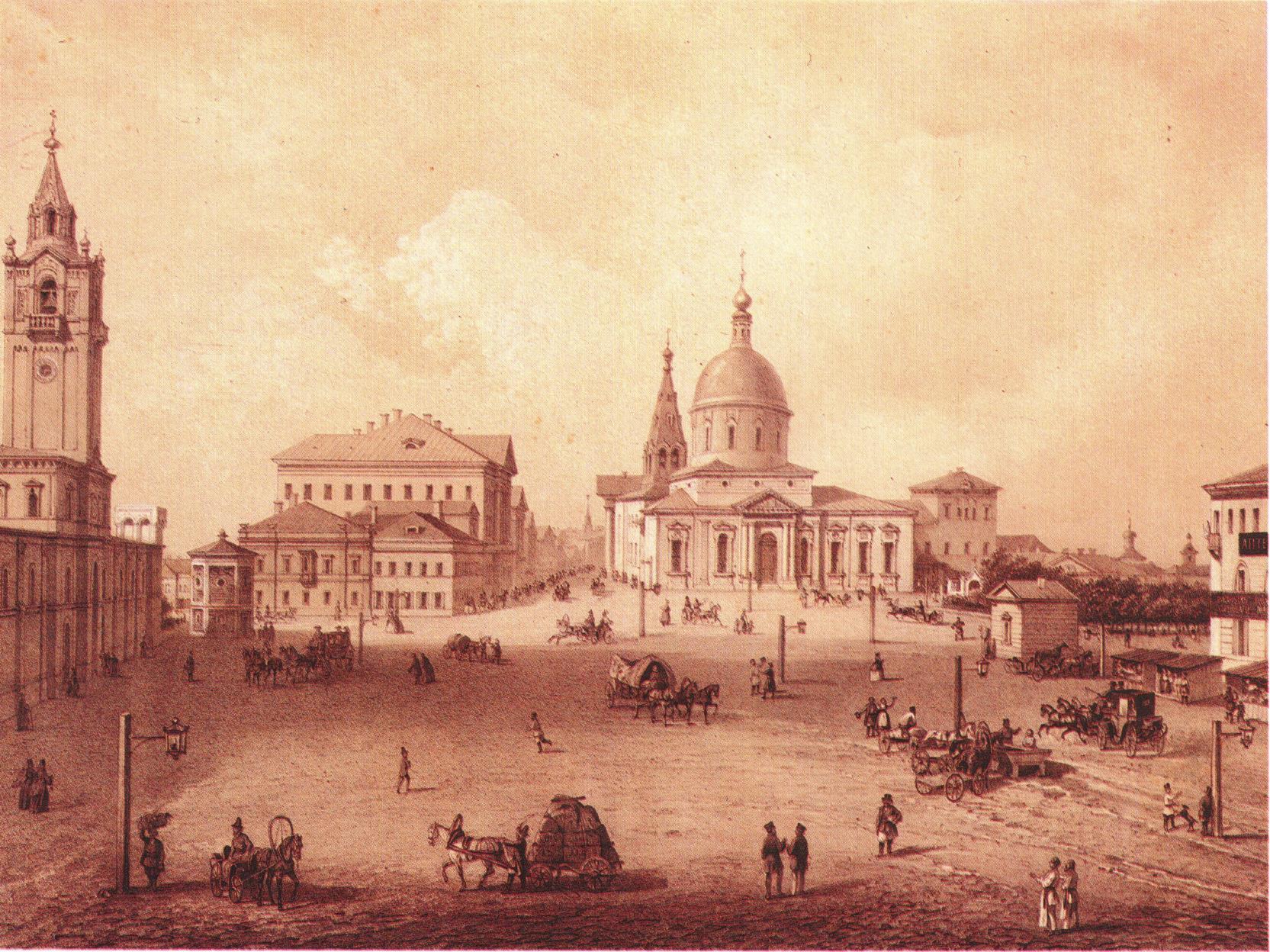 1850-е. Страстная площадь