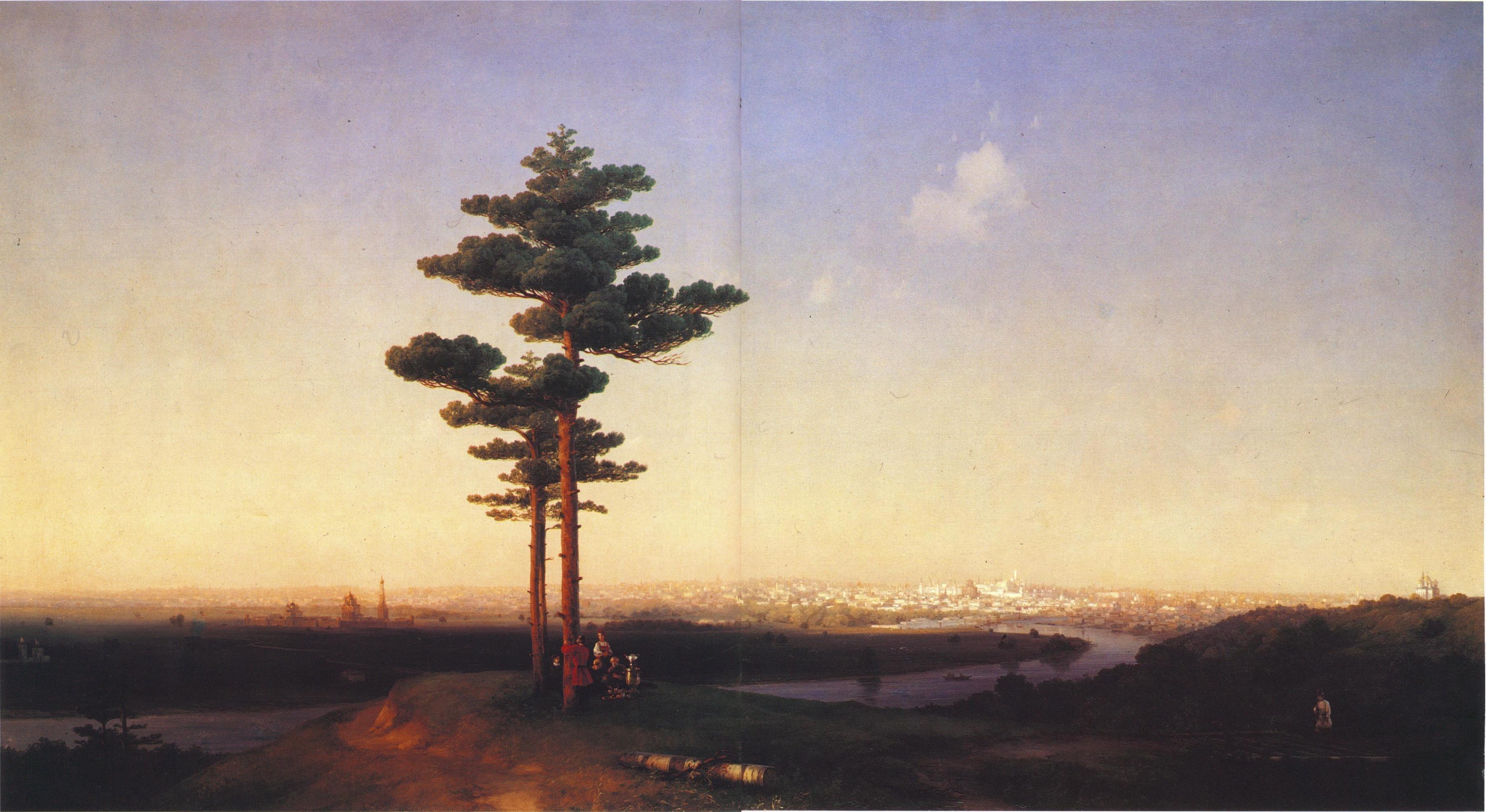 1851. Вид на Москву с Воробьёвых гор