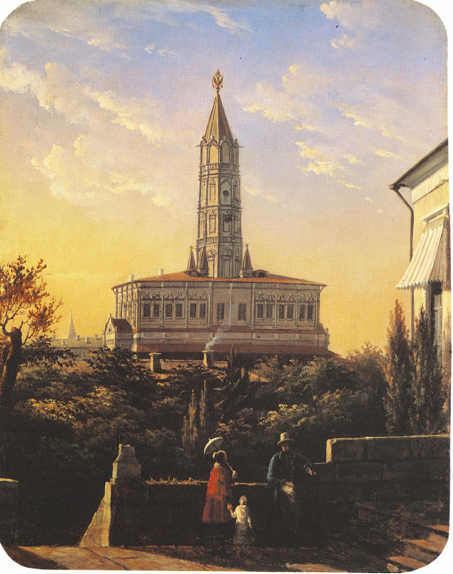 1855. Вид Сухаревой башни
