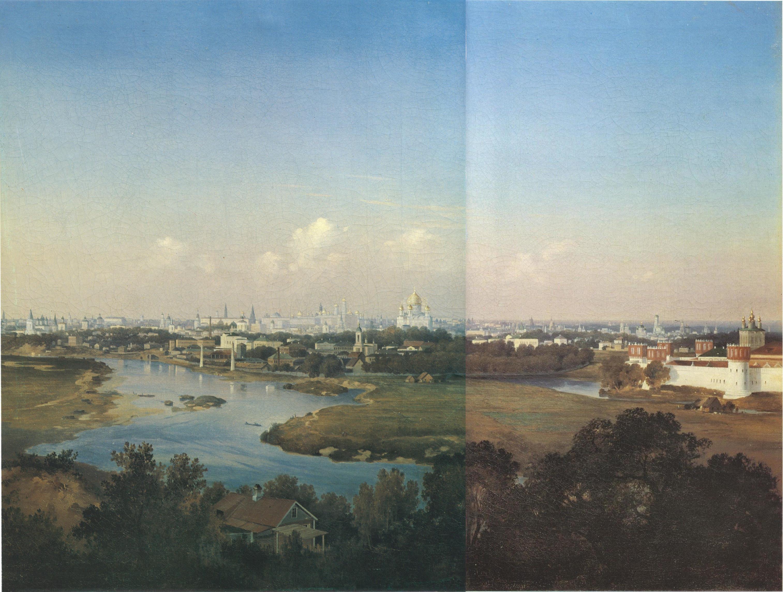 1856. Вид Москвы с Воробьевых гор