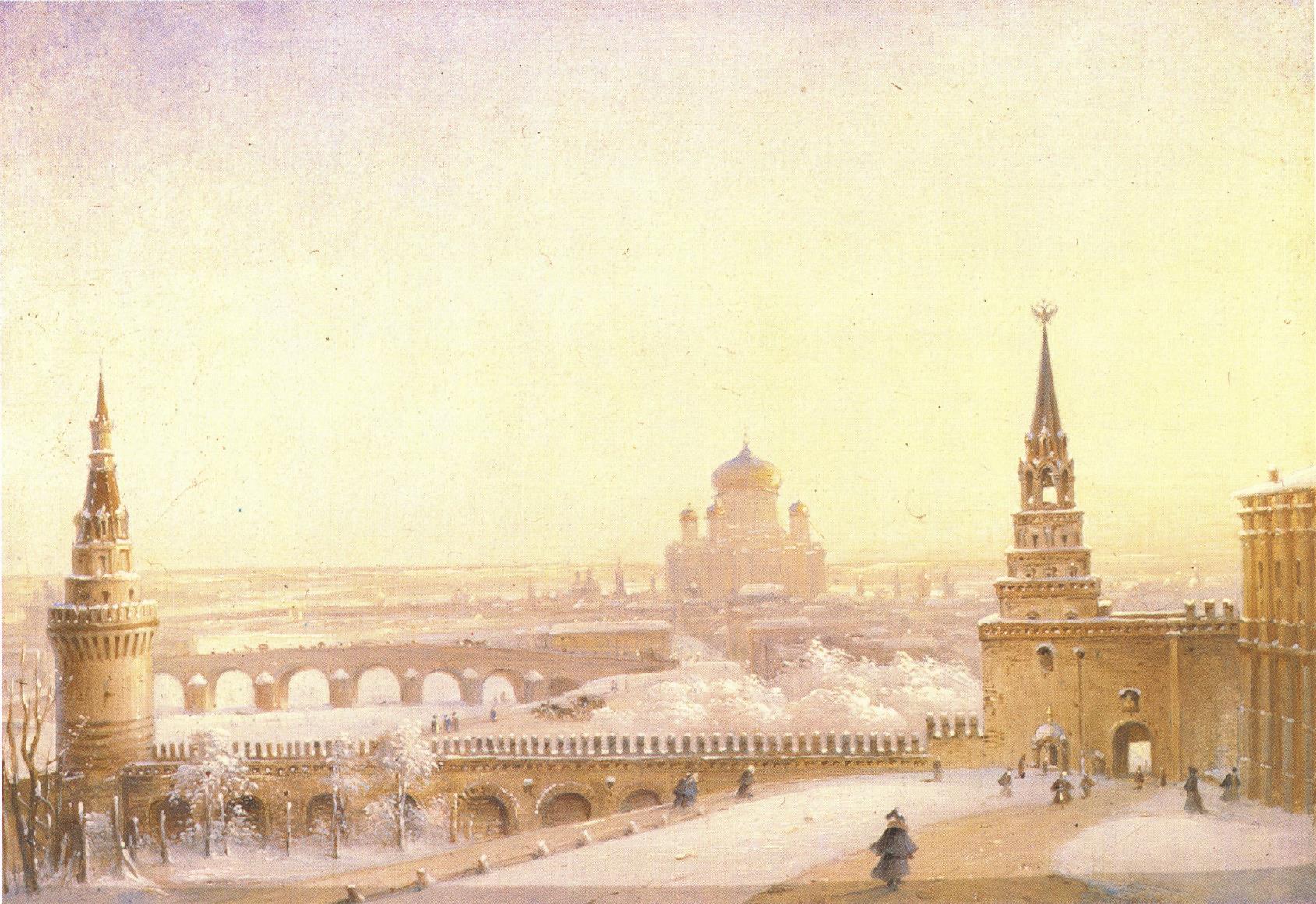 1860-е.  У Боровицких ворот Кремля