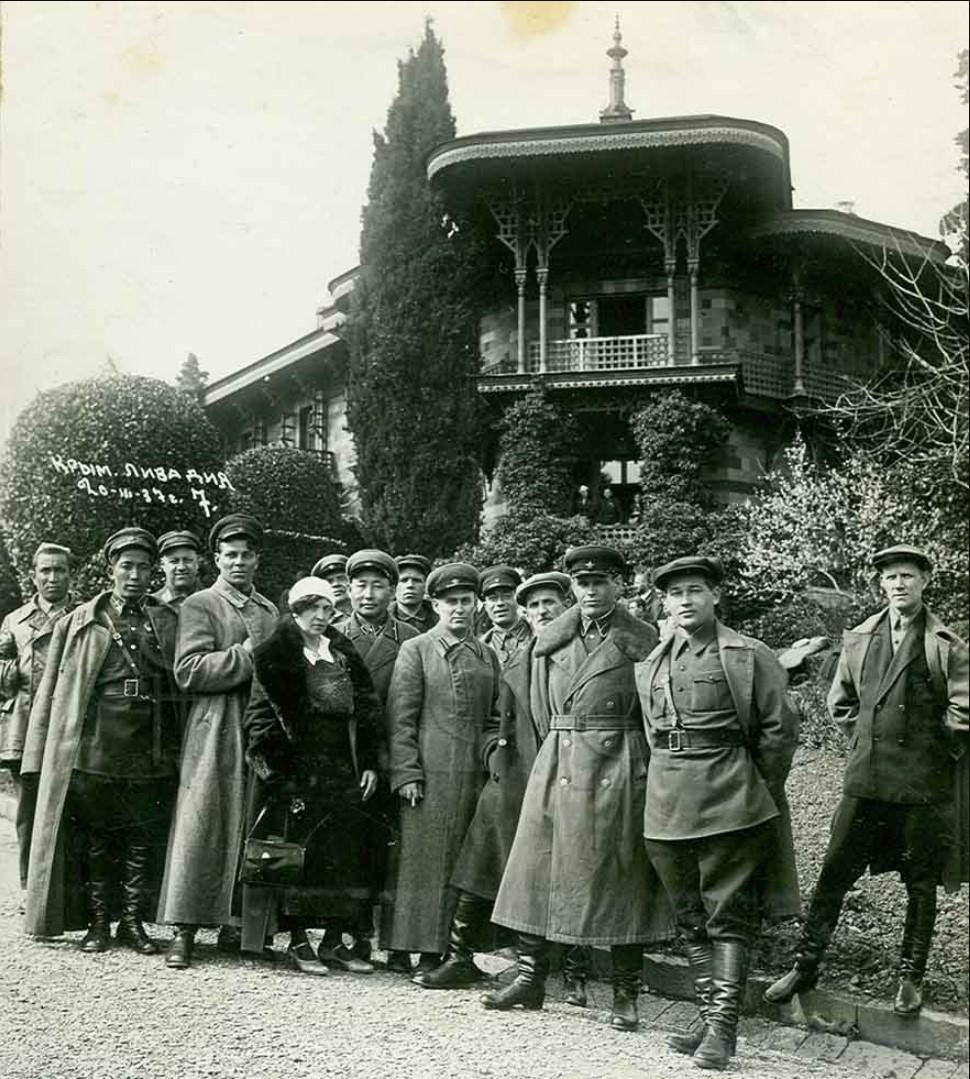 1937. Сотрудники НКВД на отдыхе в Крыму. Ливадия