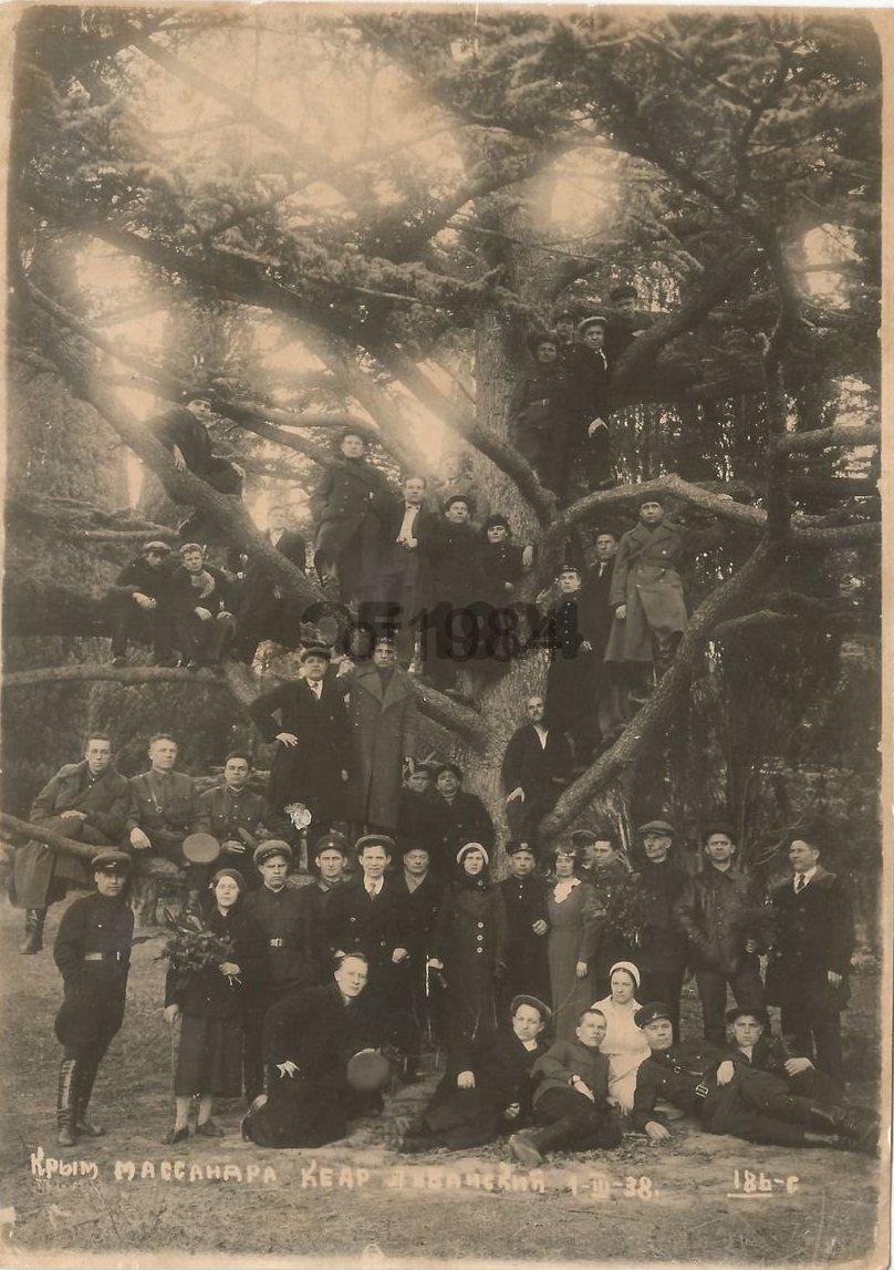 1938. Сотрудники аппарата НКВД на отдыхе в Крыму. Массандра