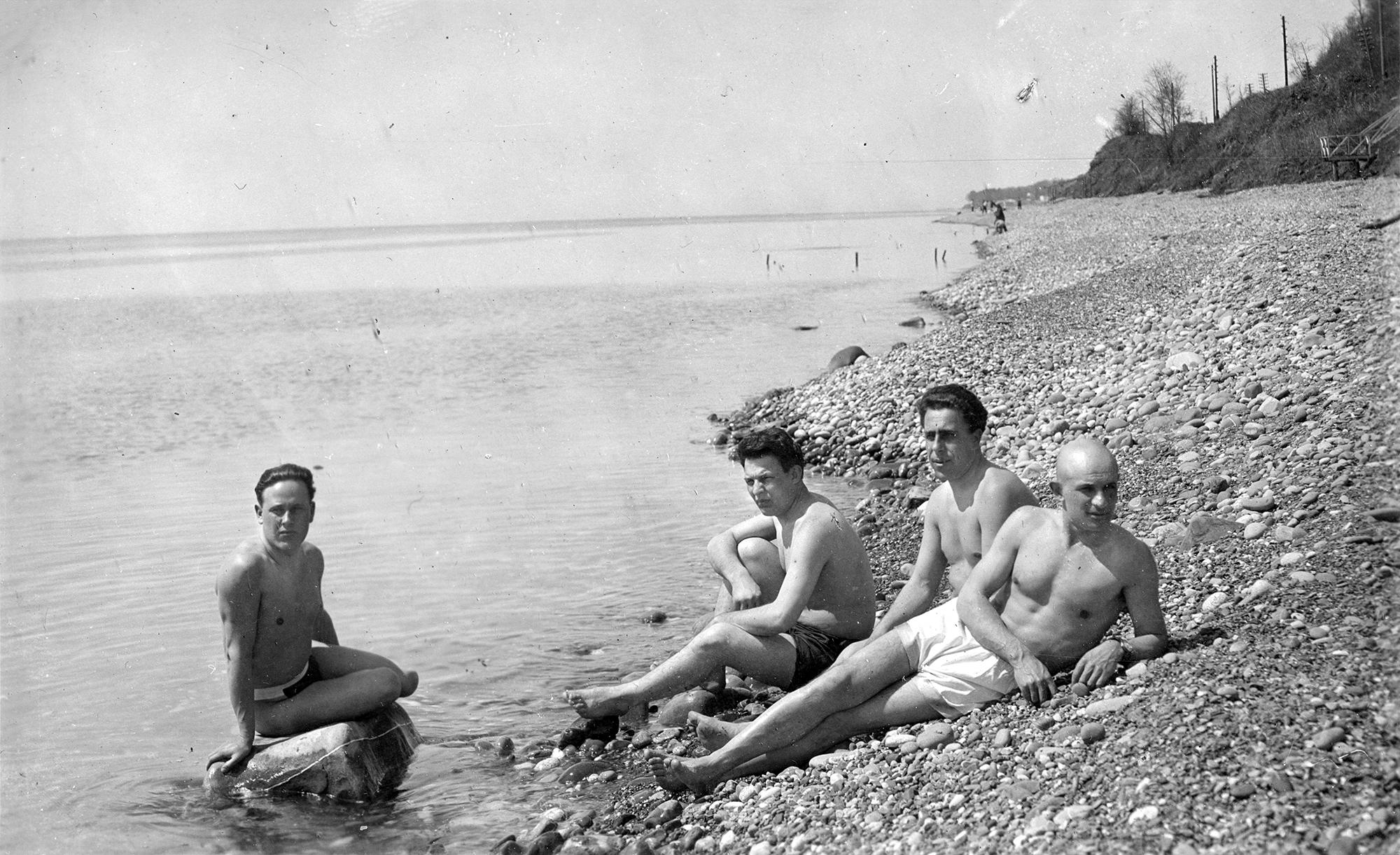 1938. Сочи. Санаторий НКВД №4. «На пляже»