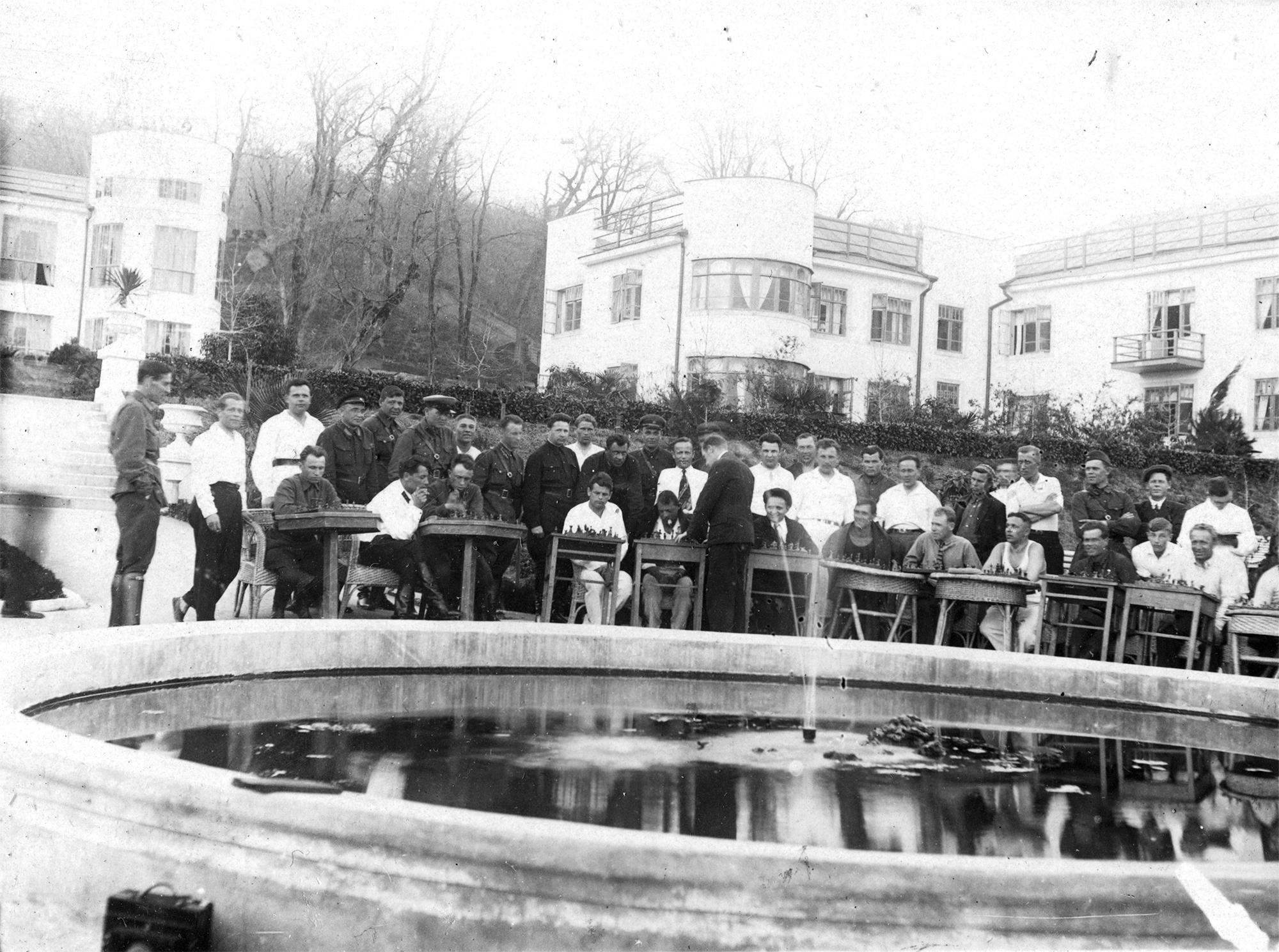 1938. Сочи. Санаторий НКВД №4. «Шахматный турнир»