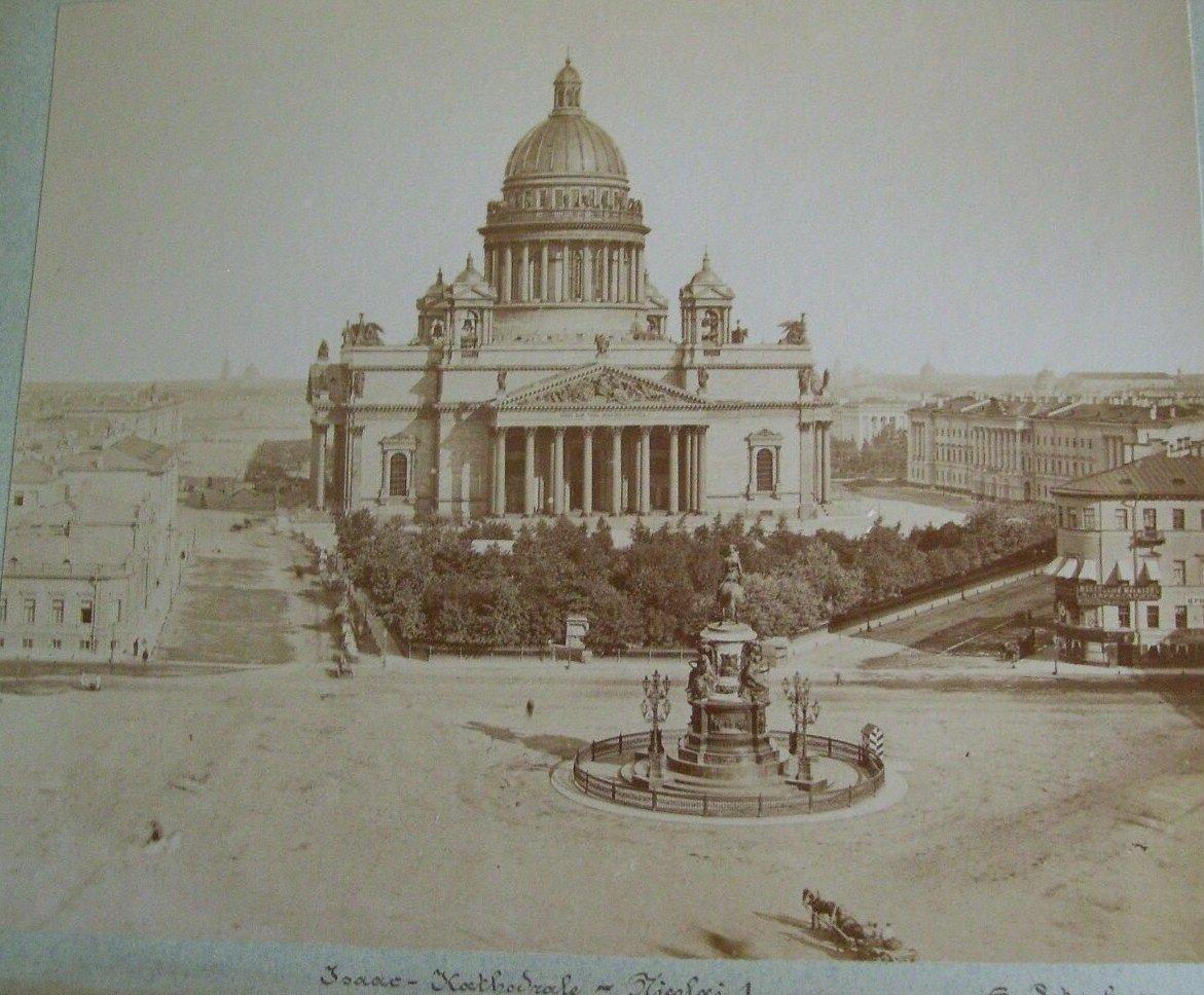 1890-е. Исаакиевский собор. Памятник Николаю I