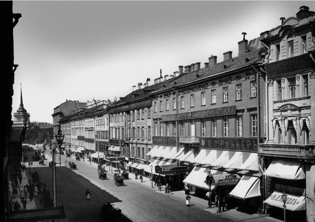 1900-е. Невский проспект у Адмиралтейства