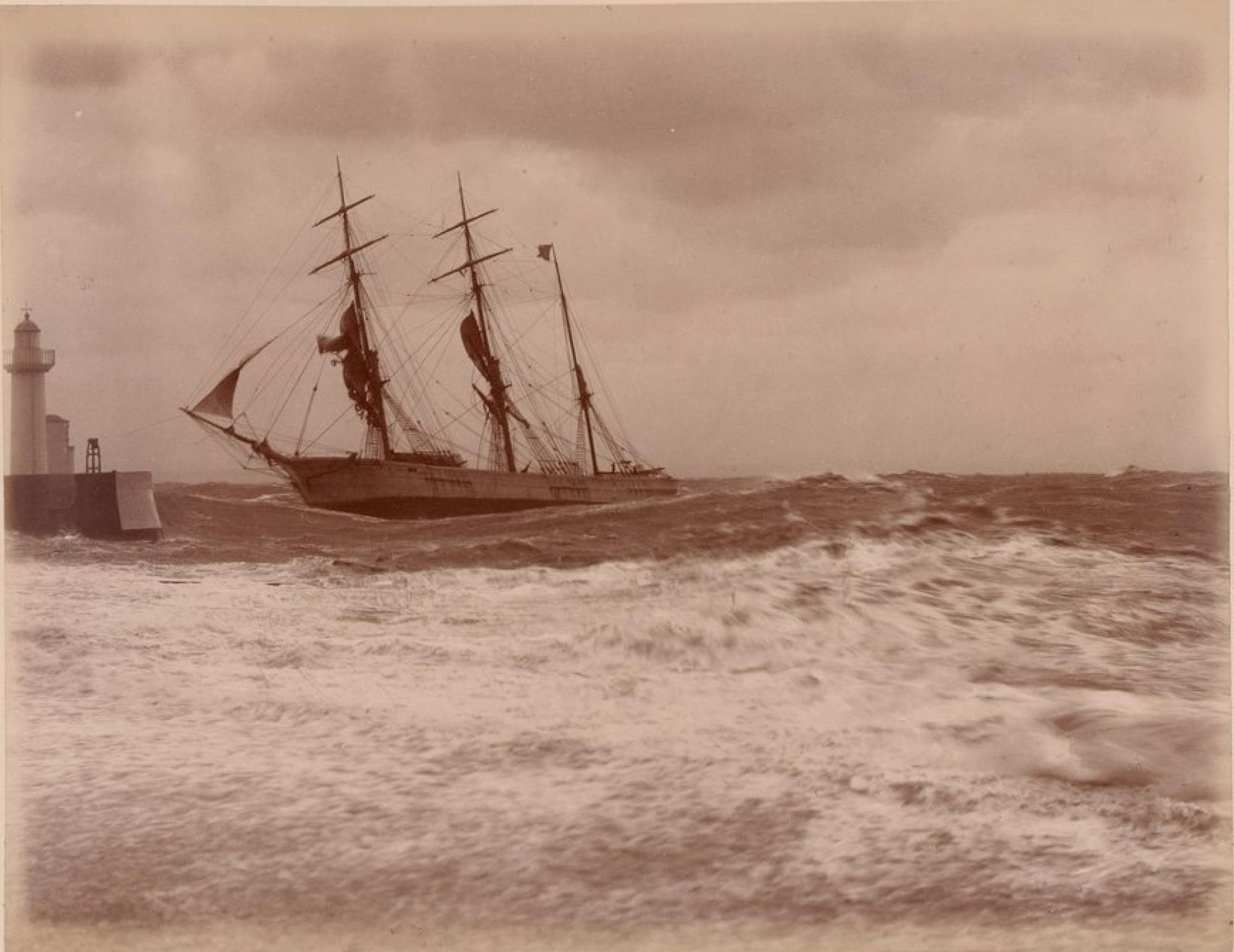 Парусник «Генуя» в Гавре во время шторма 13 сентября 1885 года